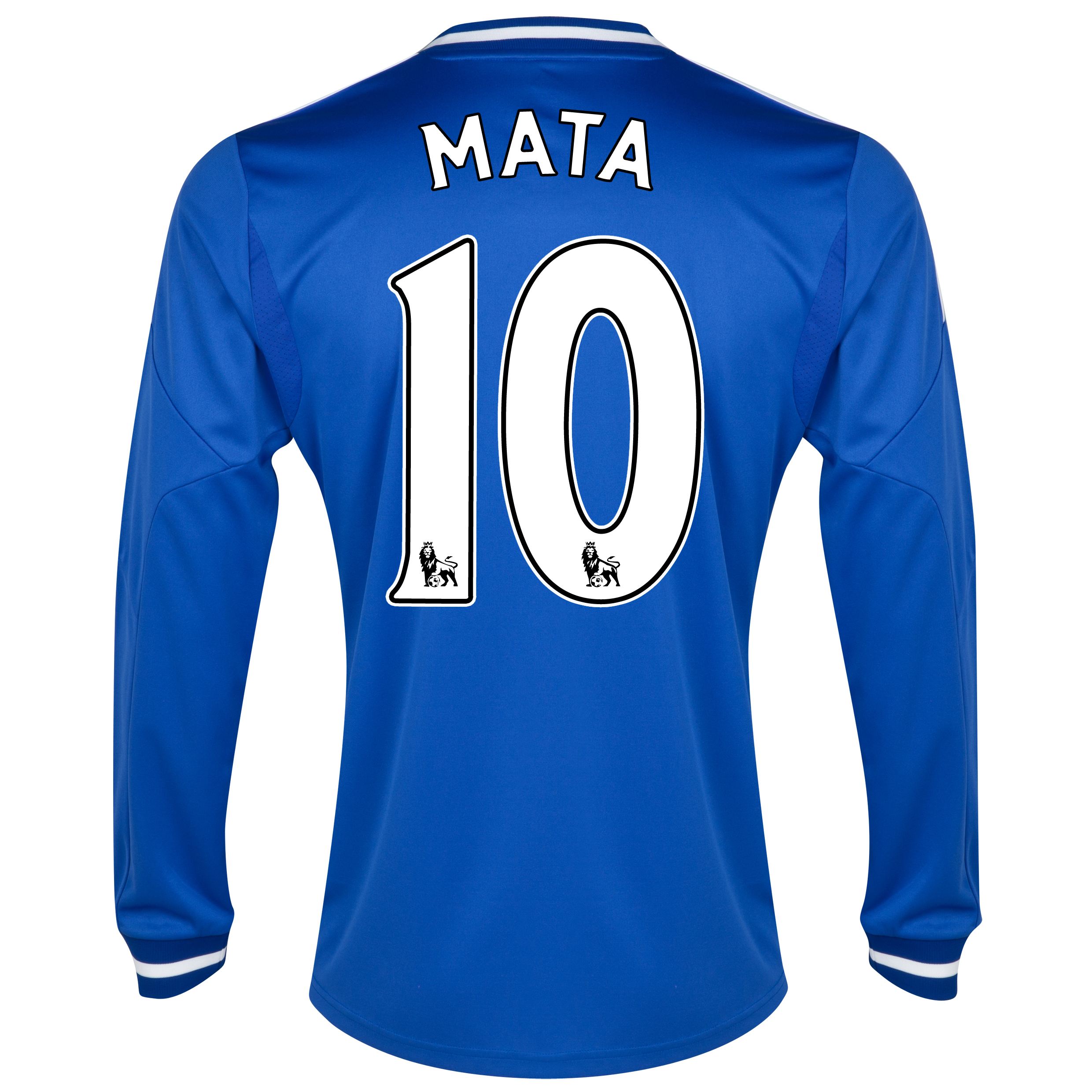 Chelsea Home Shirt 2013/14 - Long Sleeve - Kids with Mata 10 printing
