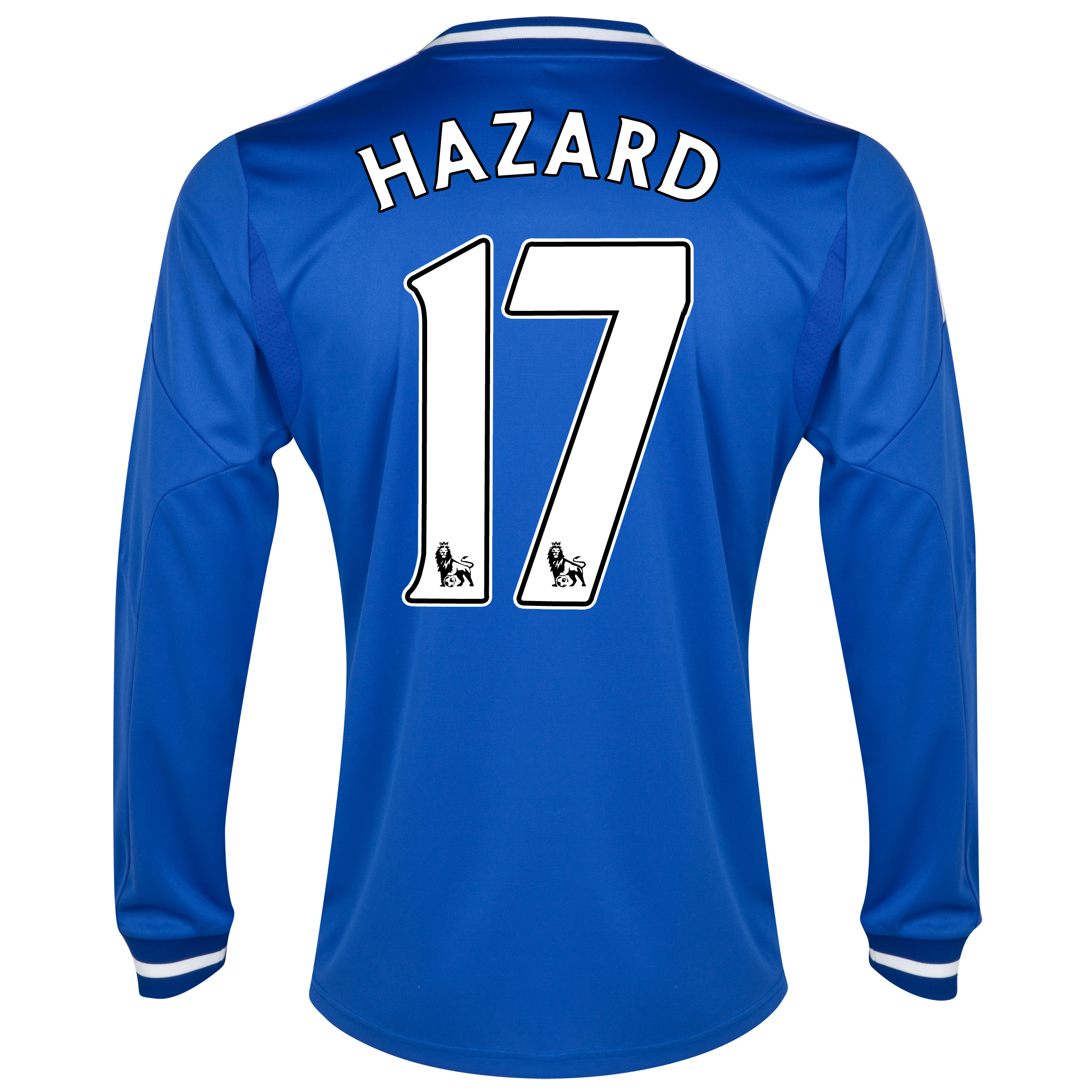 Chelsea Home Shirt 2013/14 - Long Sleeve - Kids with Hazard 17 printing