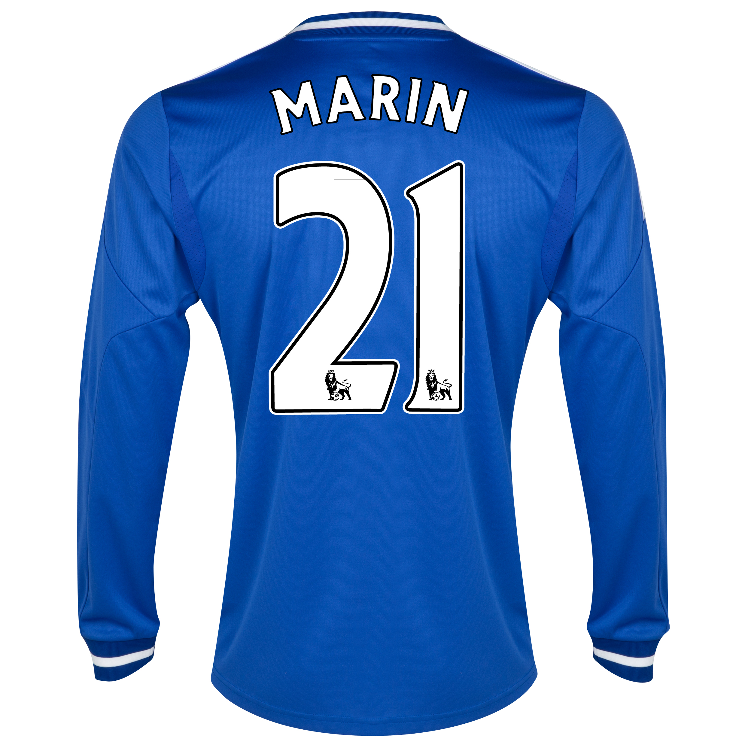 Chelsea Home Shirt 2013/14 - Long Sleeve - Kids with Marin 21 printing
