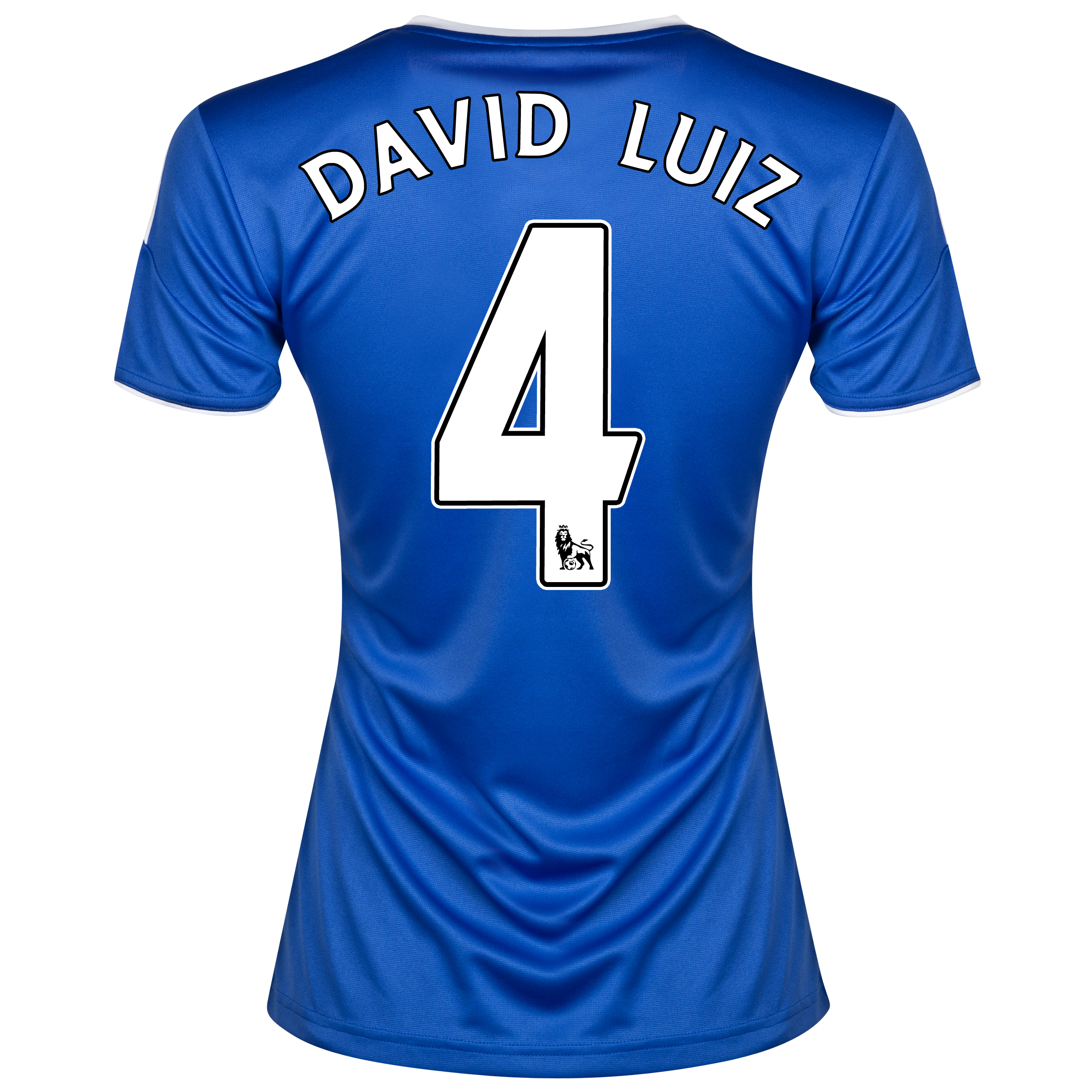 Chelsea Home Shirt 2013/14- Womens with David Luiz 4 printing