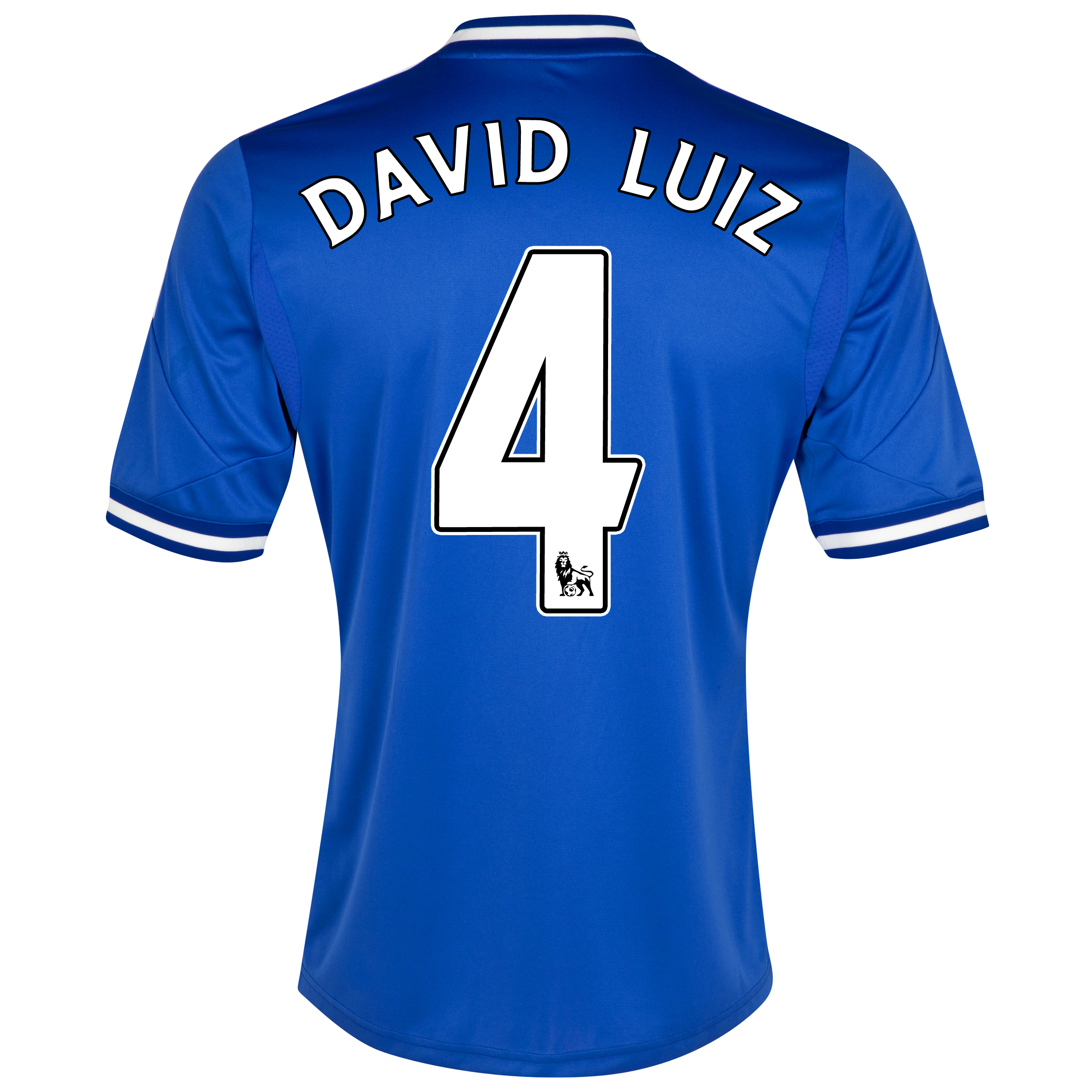 Chelsea Home Shirt 2013/14 - Outsize with David Luiz 4 printing