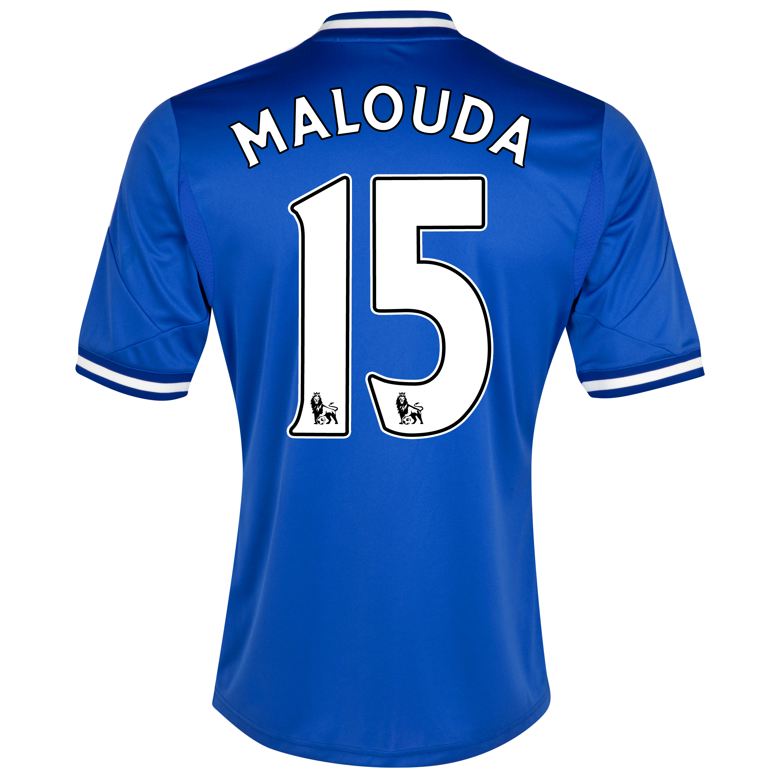 Chelsea Home Shirt 2013/14 - Outsize with Malouda 15 printing