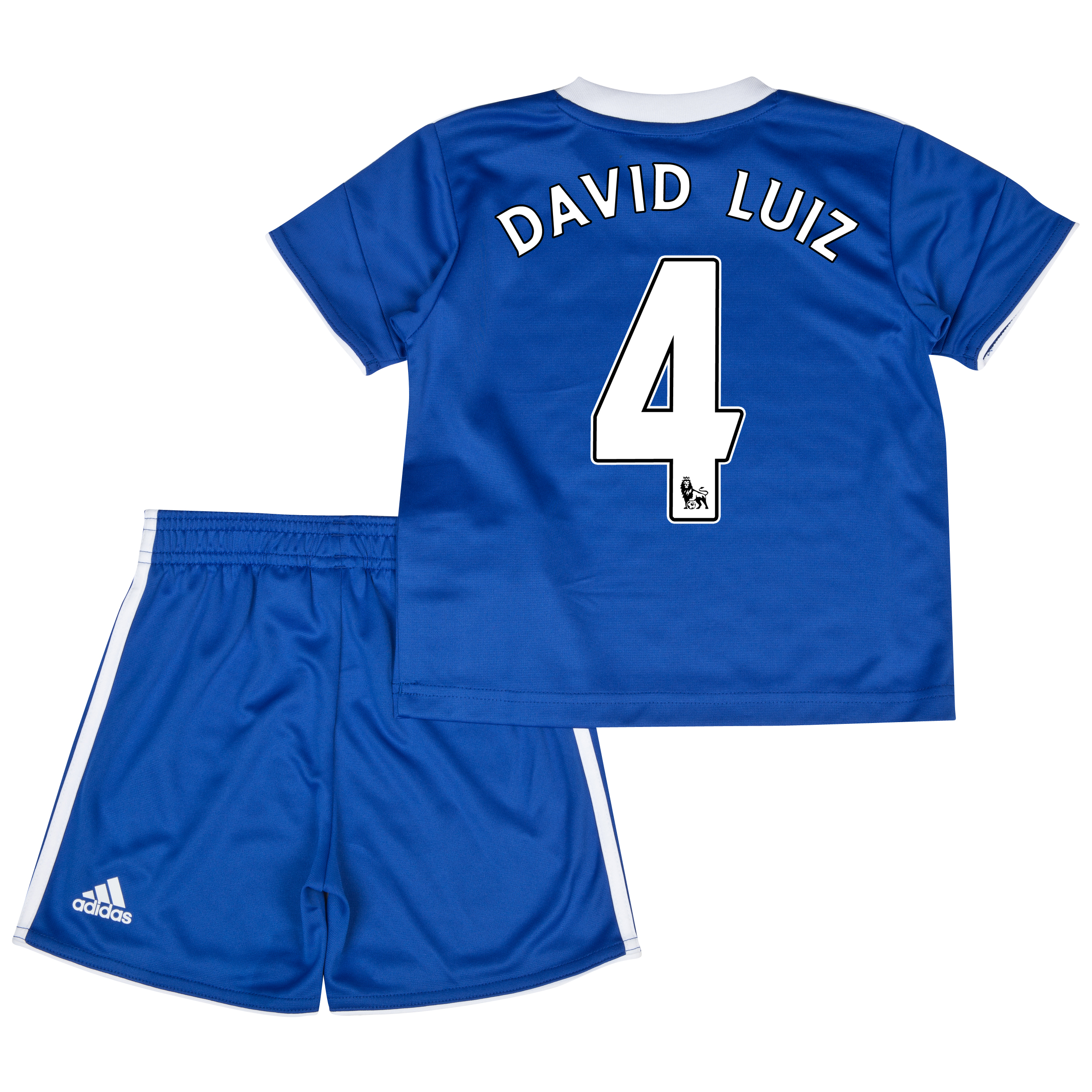 Chelsea Home Mini Kit 2013/14 with David Luiz 4 printing