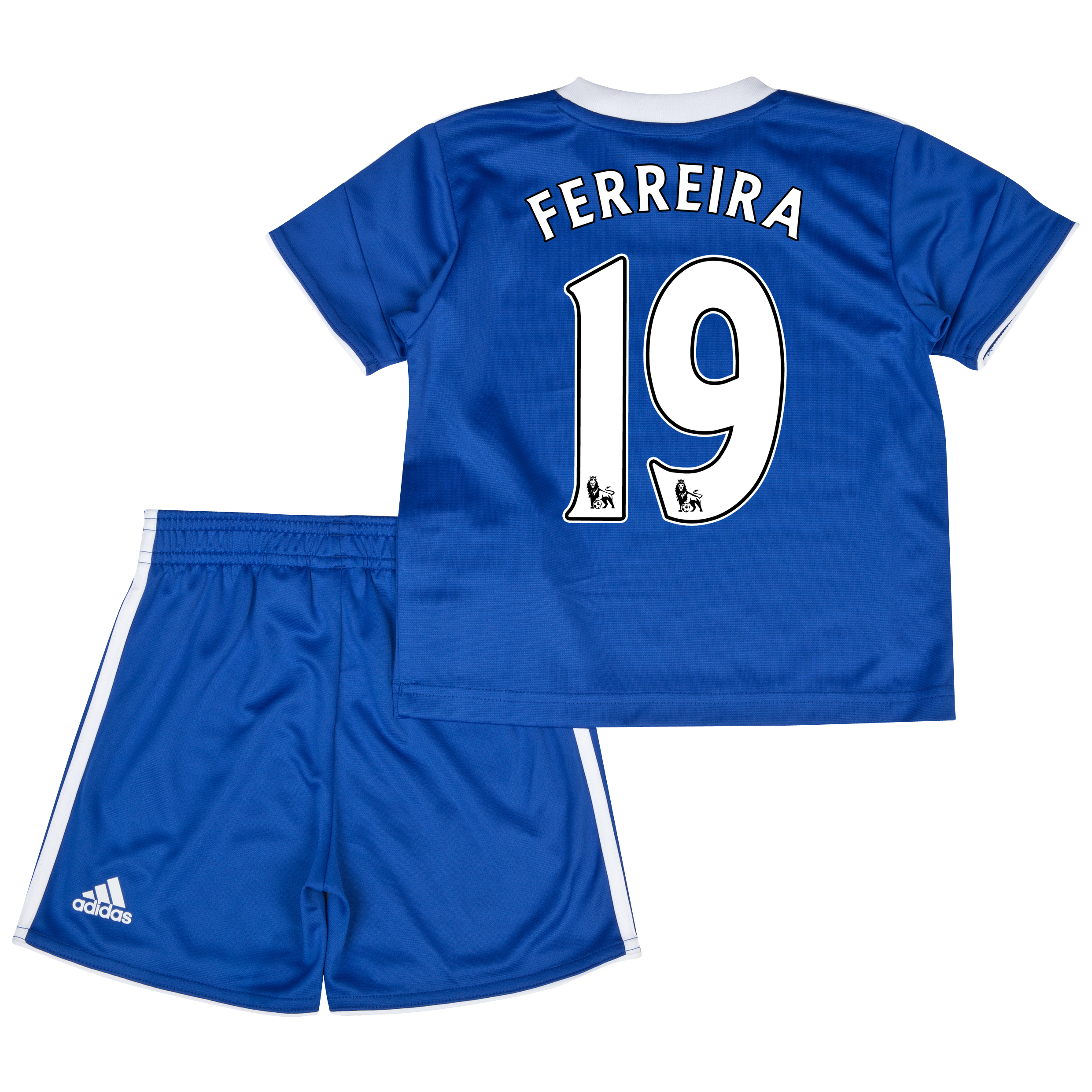 Chelsea Home Mini Kit 2013/14 with Ferreira 19 printing