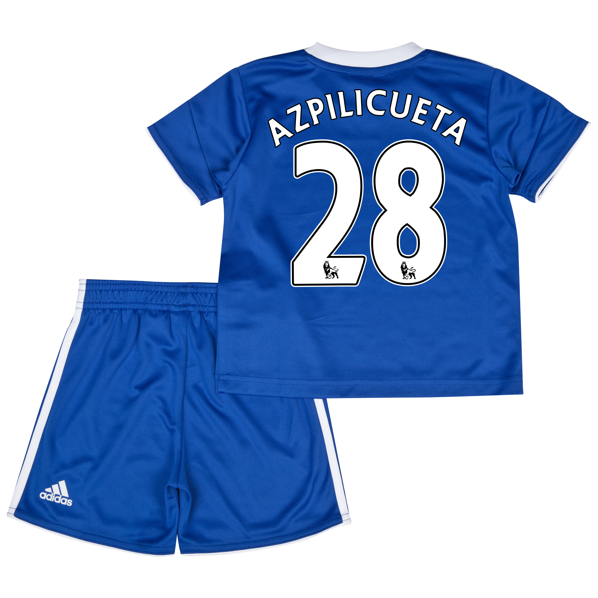 Chelsea Home Mini Kit 2013/14 with Azpilicueta 28 printing