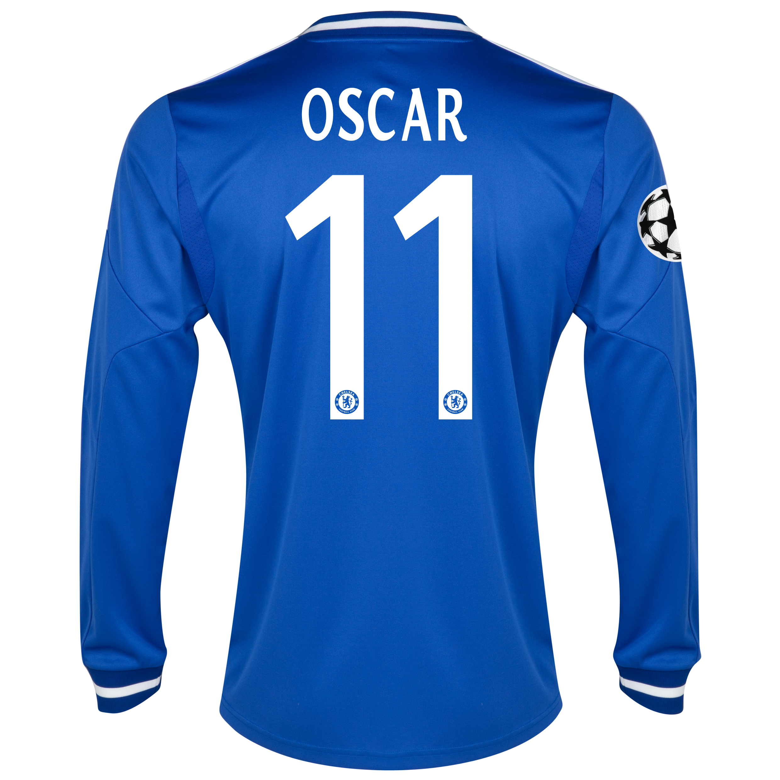 Chelsea UEFA Champions League Home Shirt 2013/14 - Long Sleeve with Oscar 11 printing