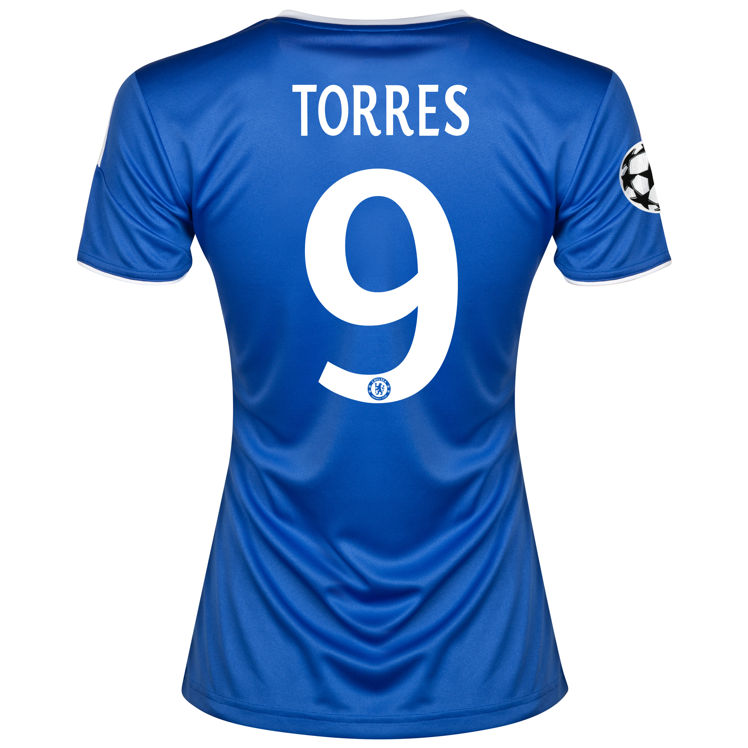 Chelsea UEFA Champions League Home Shirt 2013/14- Womens with Torres 9 printing