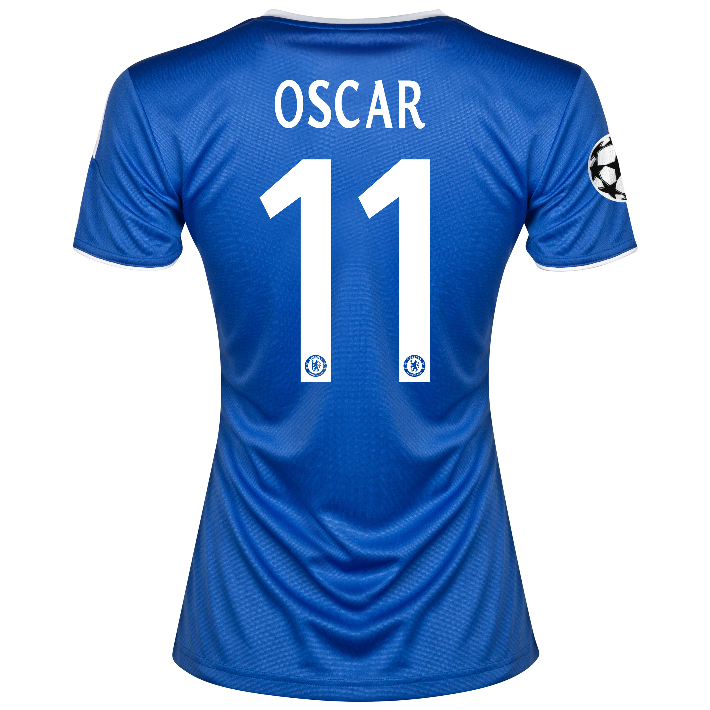 Chelsea UEFA Champions League Home Shirt 2013/14- Womens with Oscar 11 printing