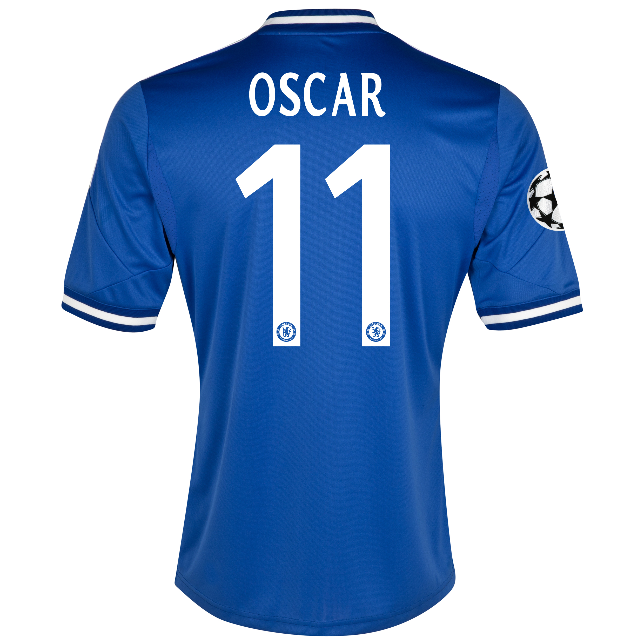 Chelsea UEFA Champions League Home Shirt 2013/14 - Outsize with Oscar 11 printing