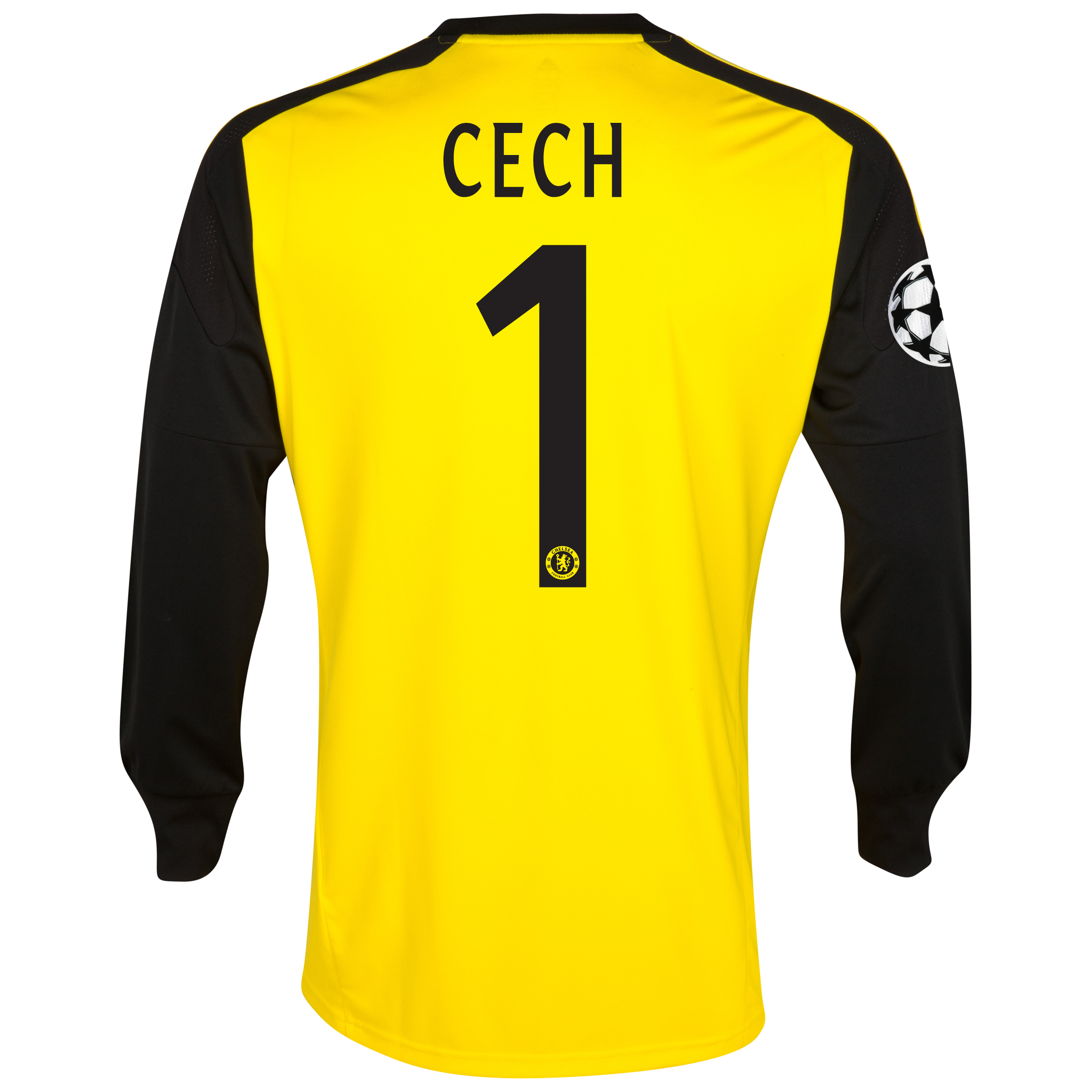 Chelsea UEFA Champions League Home Goalkeeper Shirt 2013/14 with Cech 1 printing