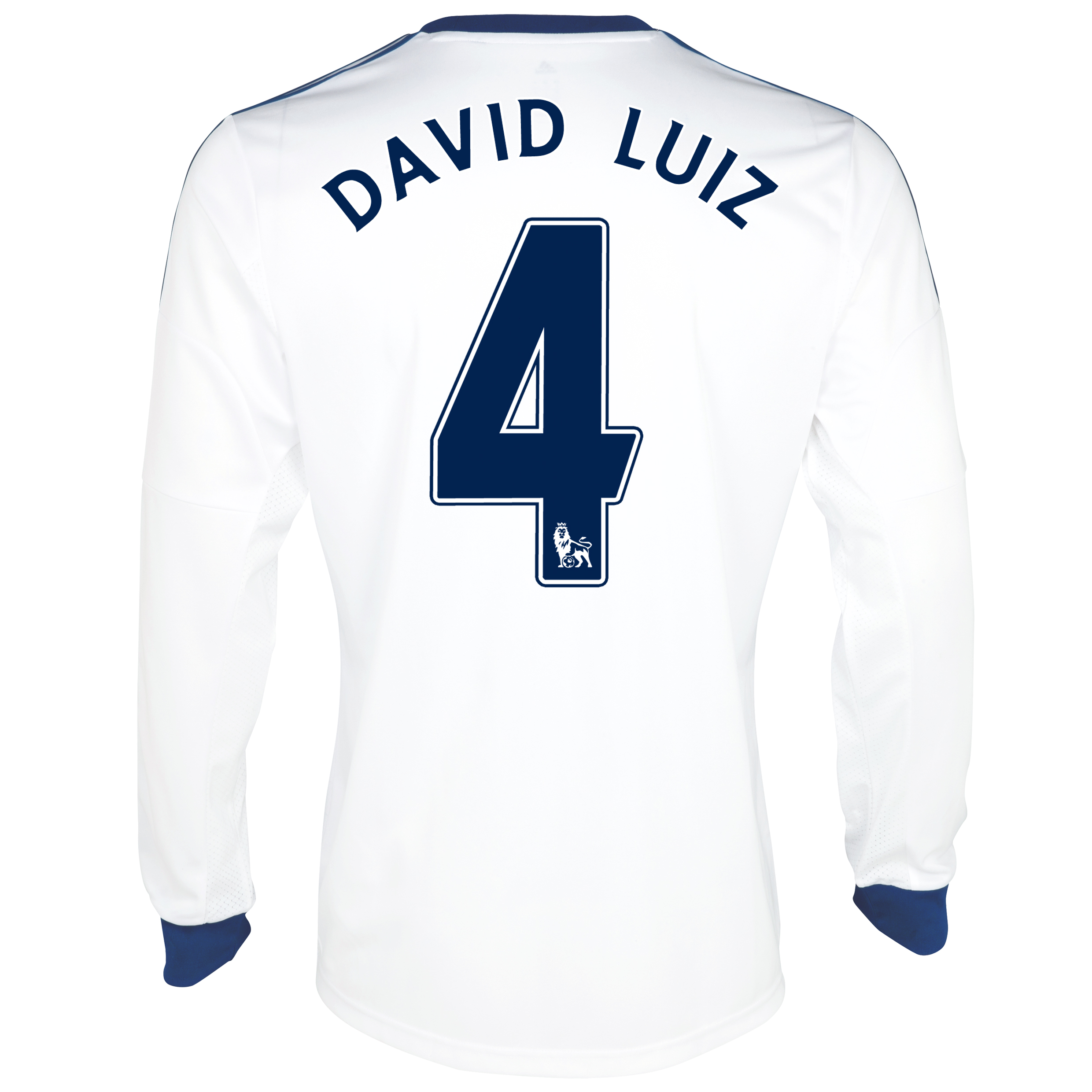 Chelsea Away Shirt 2013/14- Long Sleeve with David Luiz 4 printing