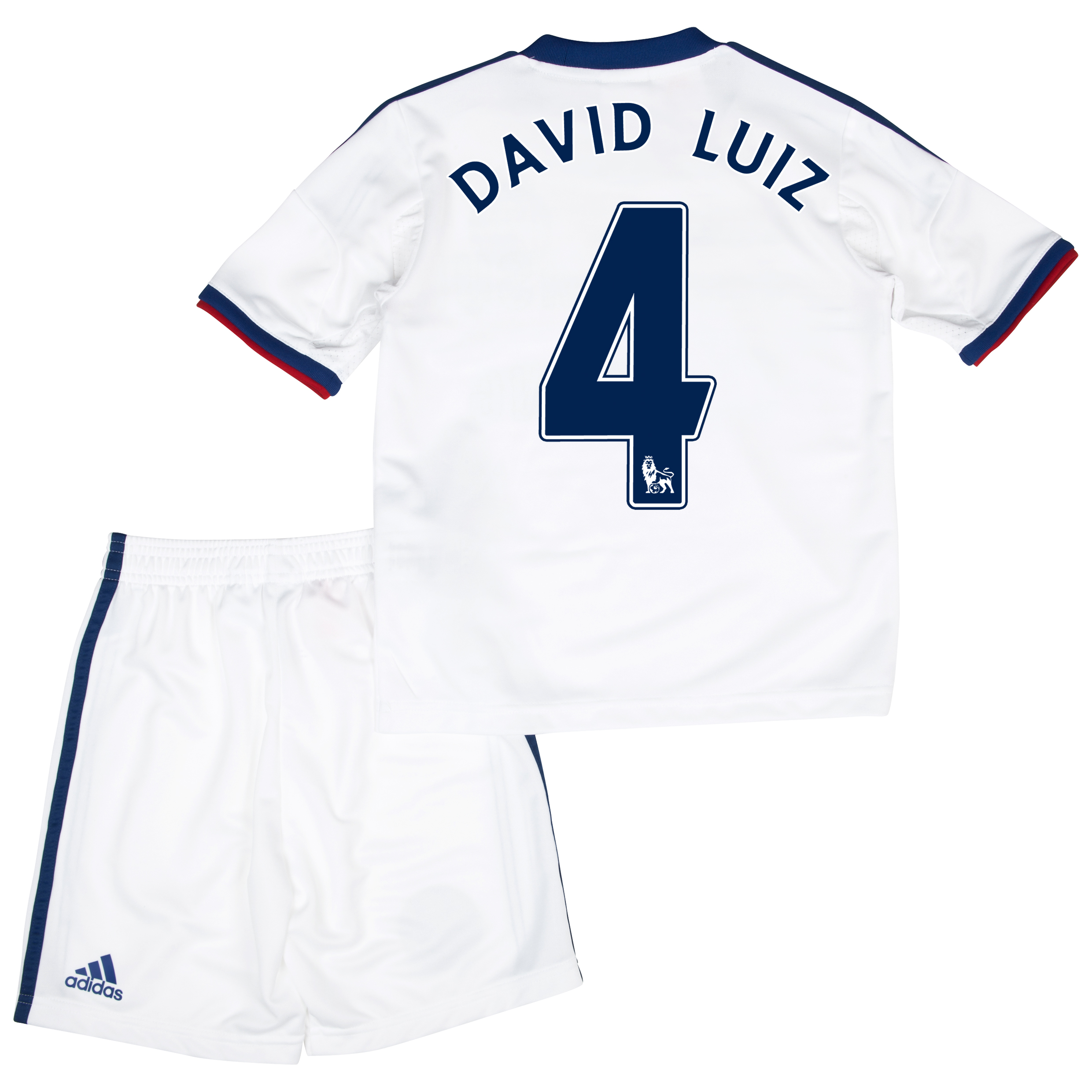 Chelsea Away Mini Kit 2013/14 with David Luiz 4 printing