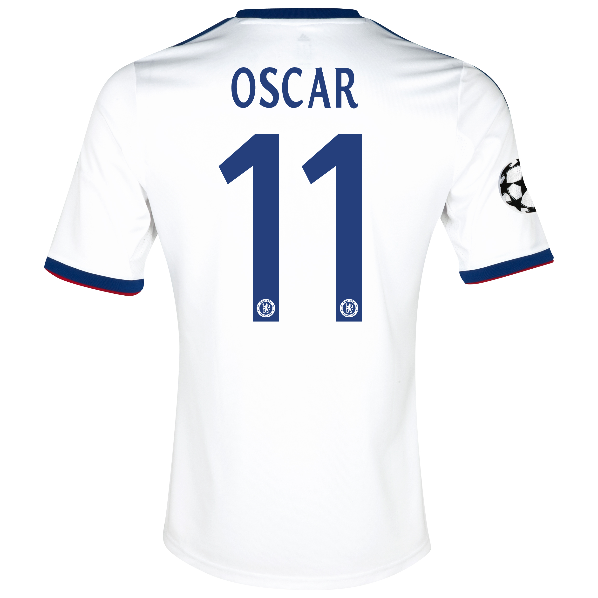 Chelsea UEFA Champions League Away Shirt 2013/14 with Oscar 11 printing