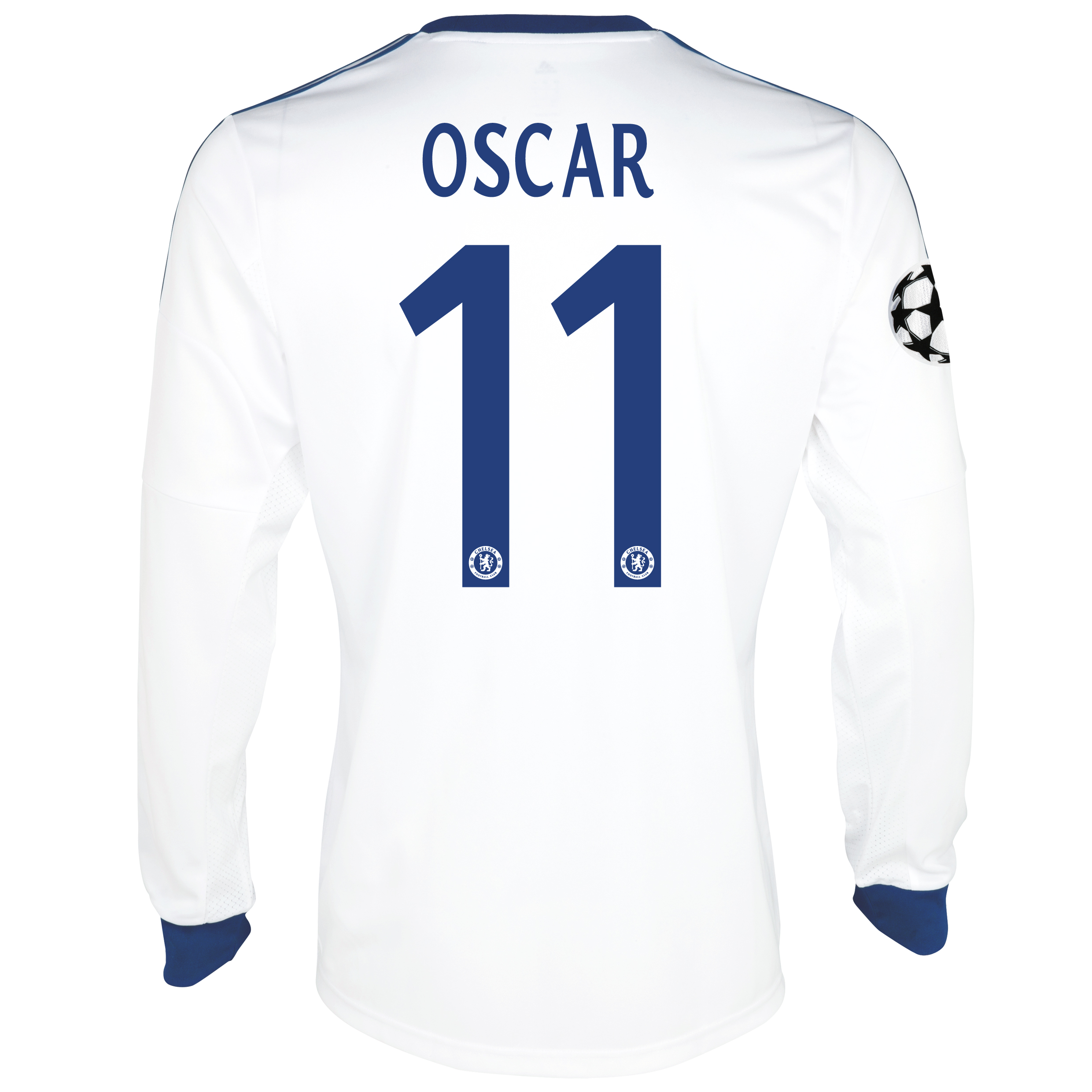 Chelsea UEFA Champions League Away Shirt 2013/14- Long Sleeve with Oscar 11 printing