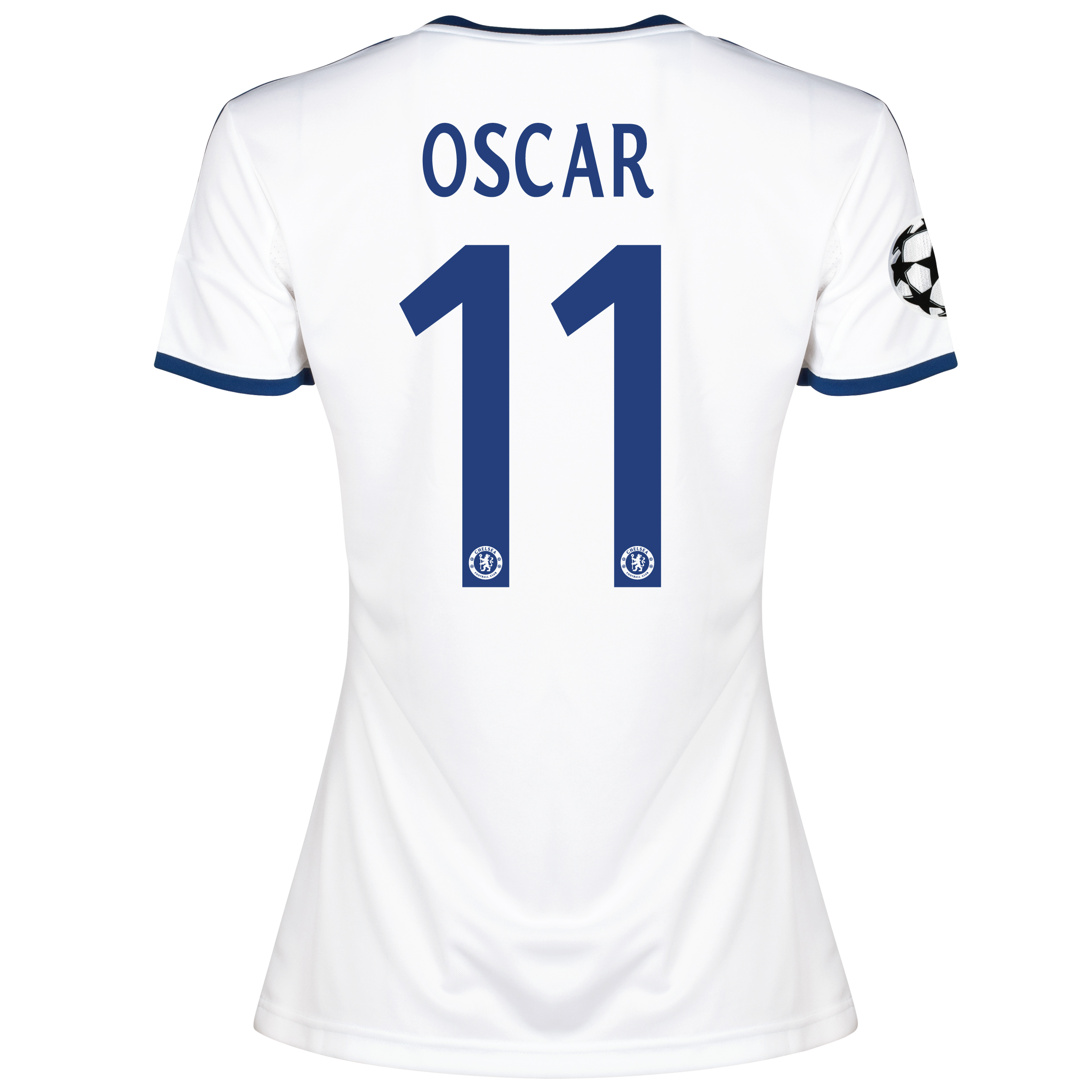 Chelsea UEFA Champions League Away Shirt 2013/14 -Womens with Oscar 11 printing