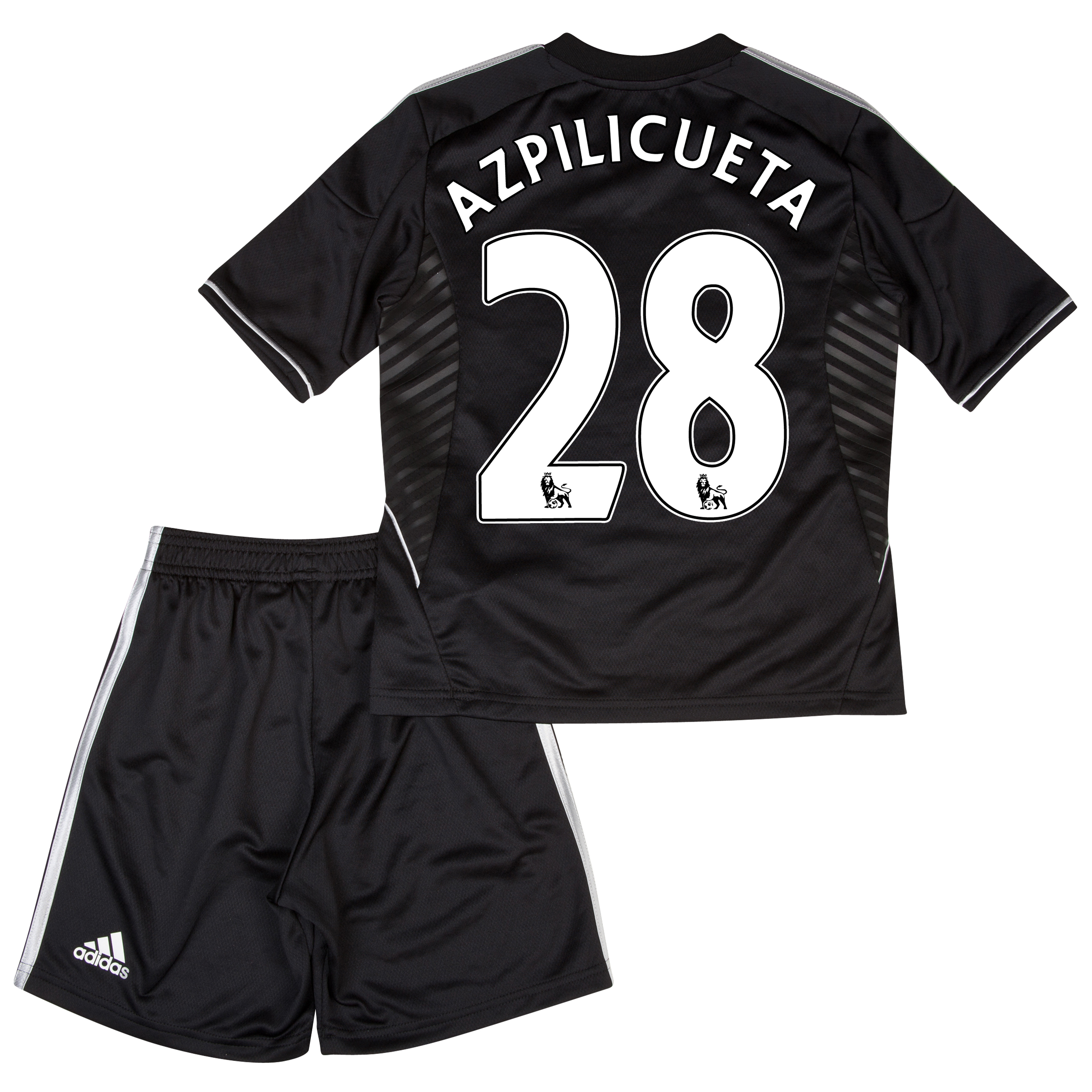 Chelsea Third Mini Kit 2013/14 with Azpilicueta 28 printing