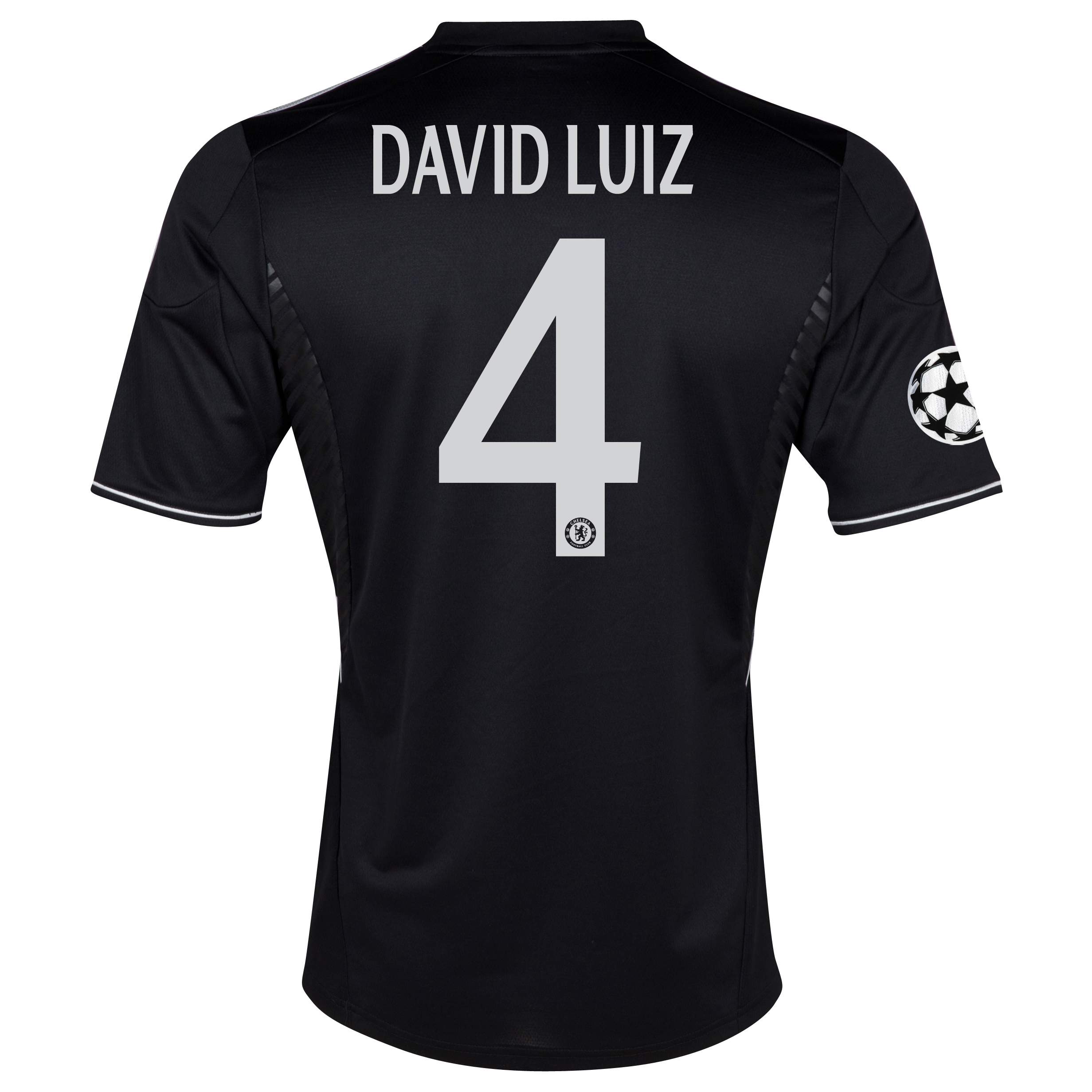 Chelsea UEFA Champions League Third Shirt 2013/14 with David Luiz 4 printing
