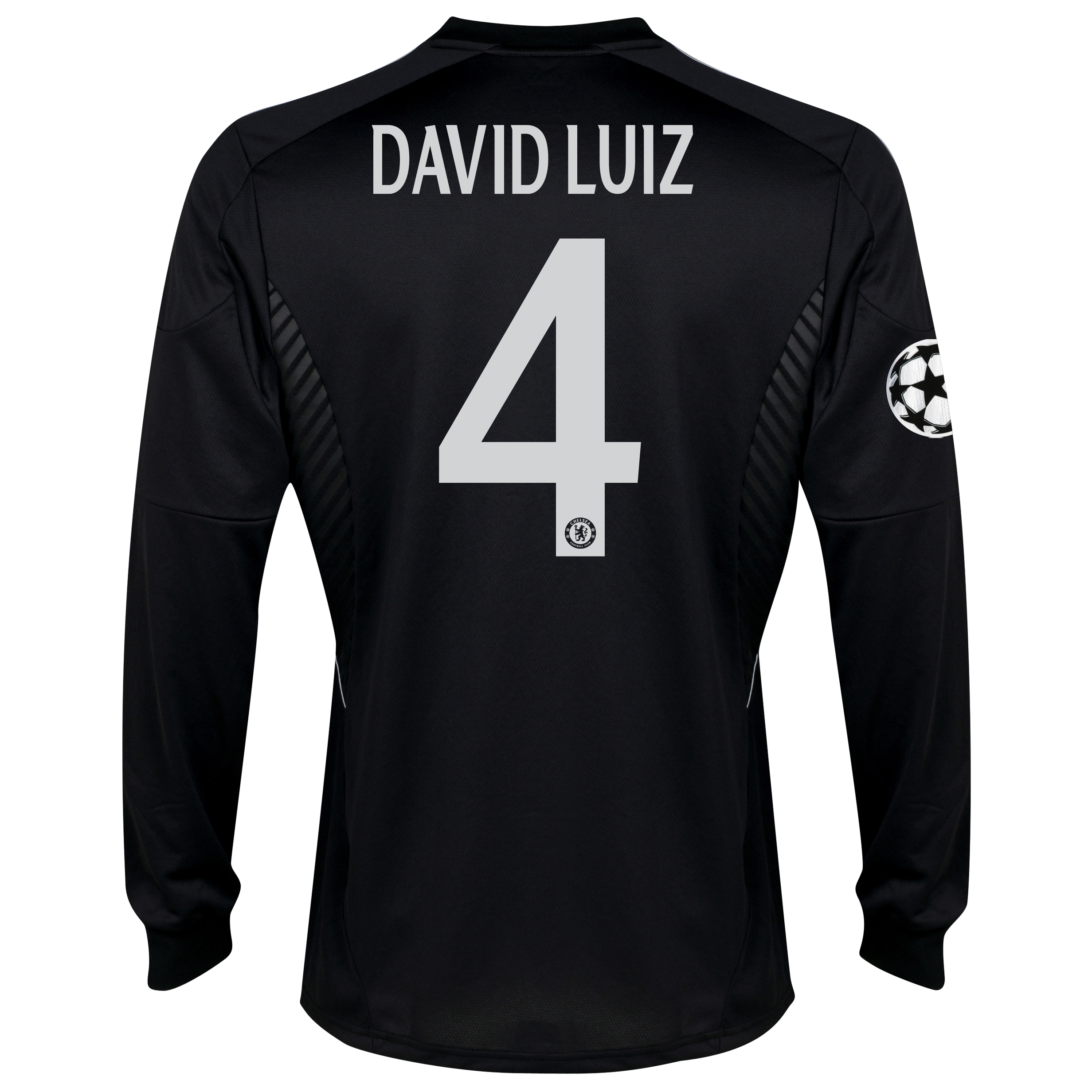 Chelsea UEFA Champions League Third Shirt 2013/14 - Long Sleeve with David Luiz 4 printing