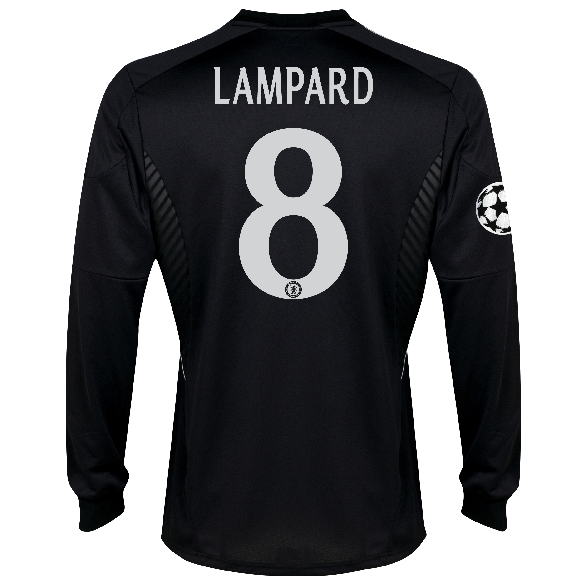 Chelsea UEFA Champions League Third Shirt 2013/14 -Long Sleeve - kids with Lampard 8 printing