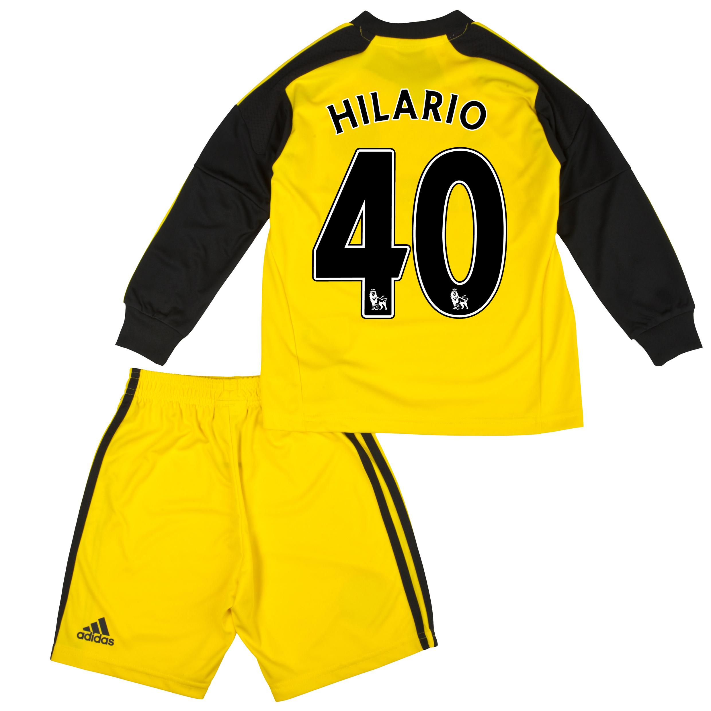 Chelsea Home Goalkeeper Mini Kit 2013/14 with Hilario 40 printing