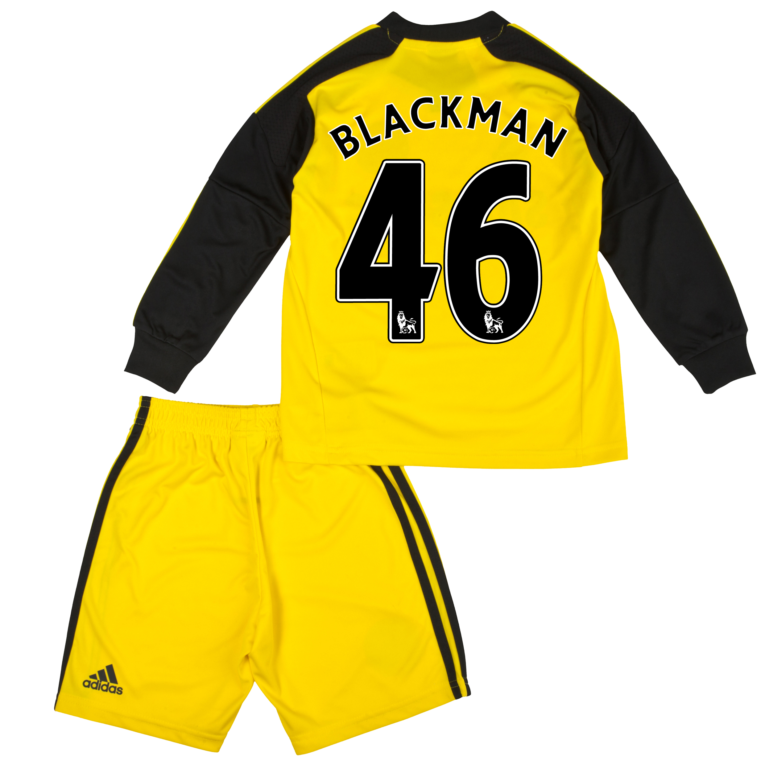 Chelsea Home Goalkeeper Mini Kit 2013/14 with Blackman 46 printing