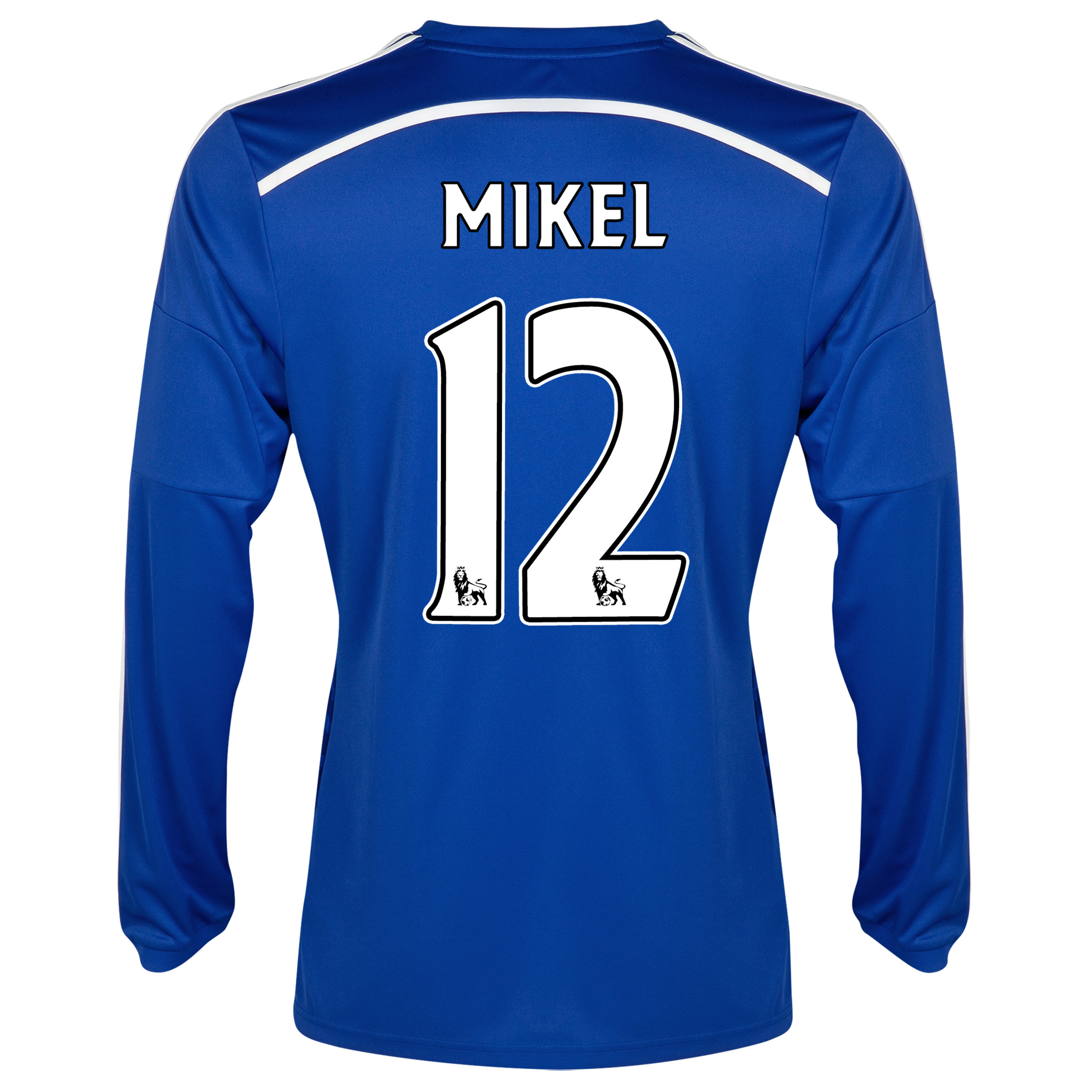 Chelsea Home Shirt 2014/15 - Long Sleeve Blue with Mikel 12 printing