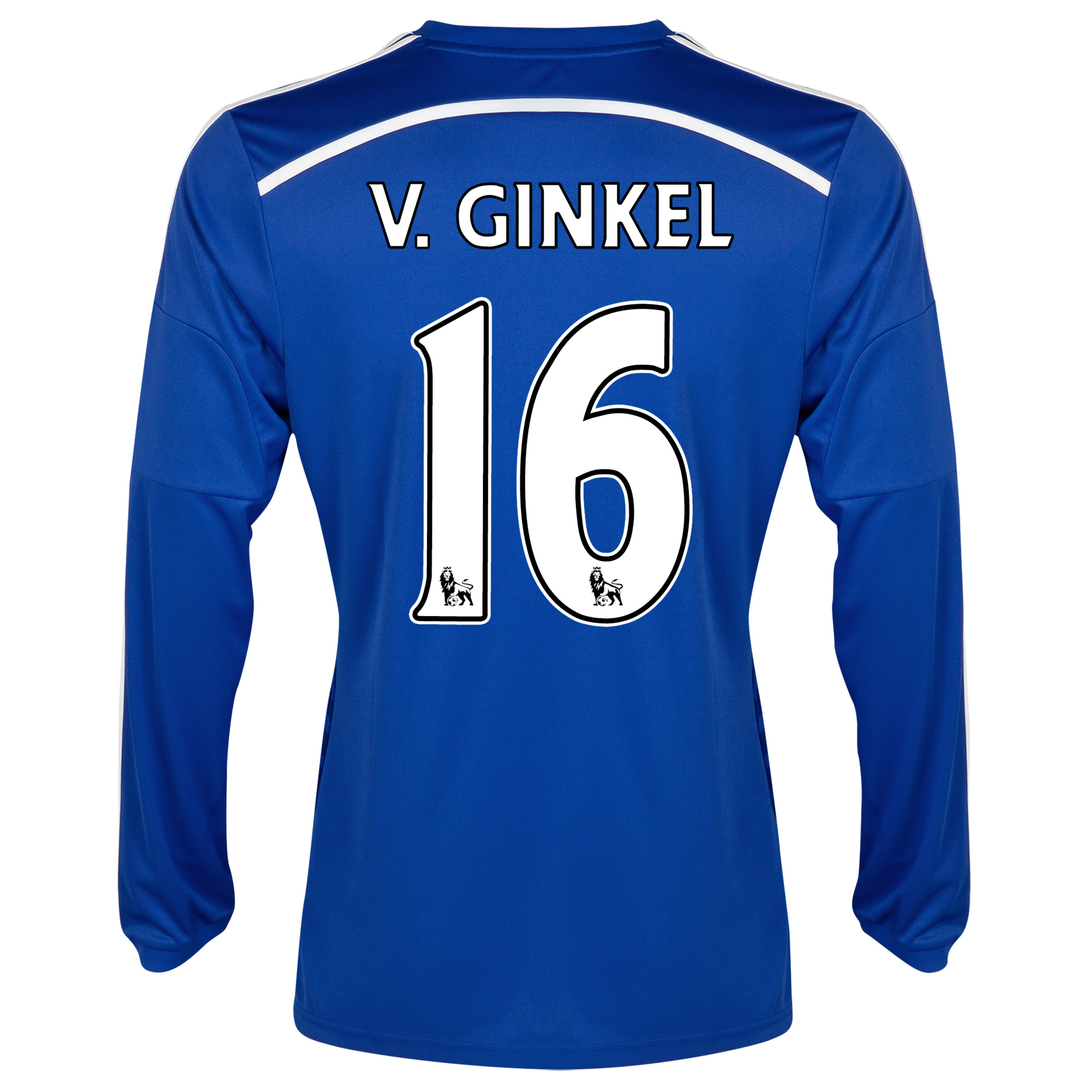 Chelsea Home Shirt 2014/15 - Long Sleeve Blue with v.Ginkel 16 printing