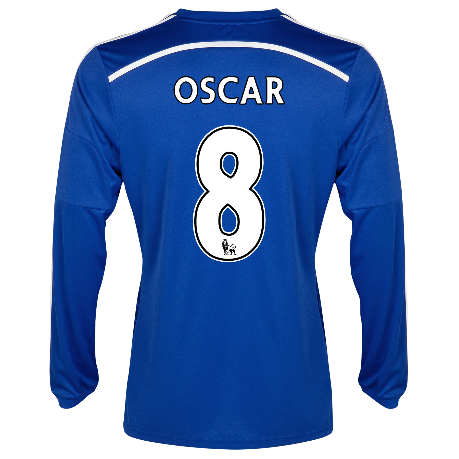 Chelsea Home Shirt 2014/15 - Long Sleeve - Kids Blue with Oscar 11 printing