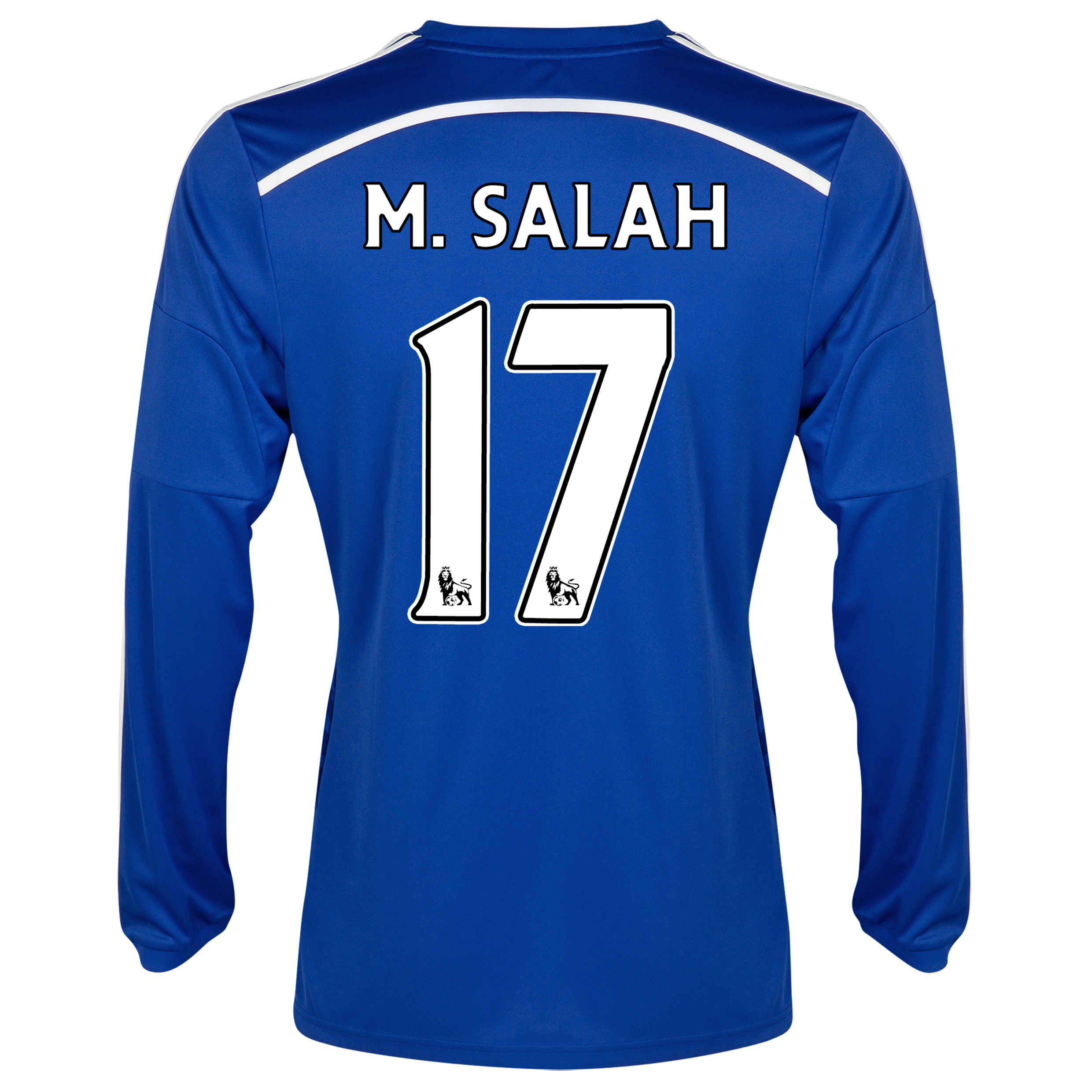 Chelsea Home Shirt 2014/15 - Long Sleeve - Kids Blue with M. Salah 17 printing
