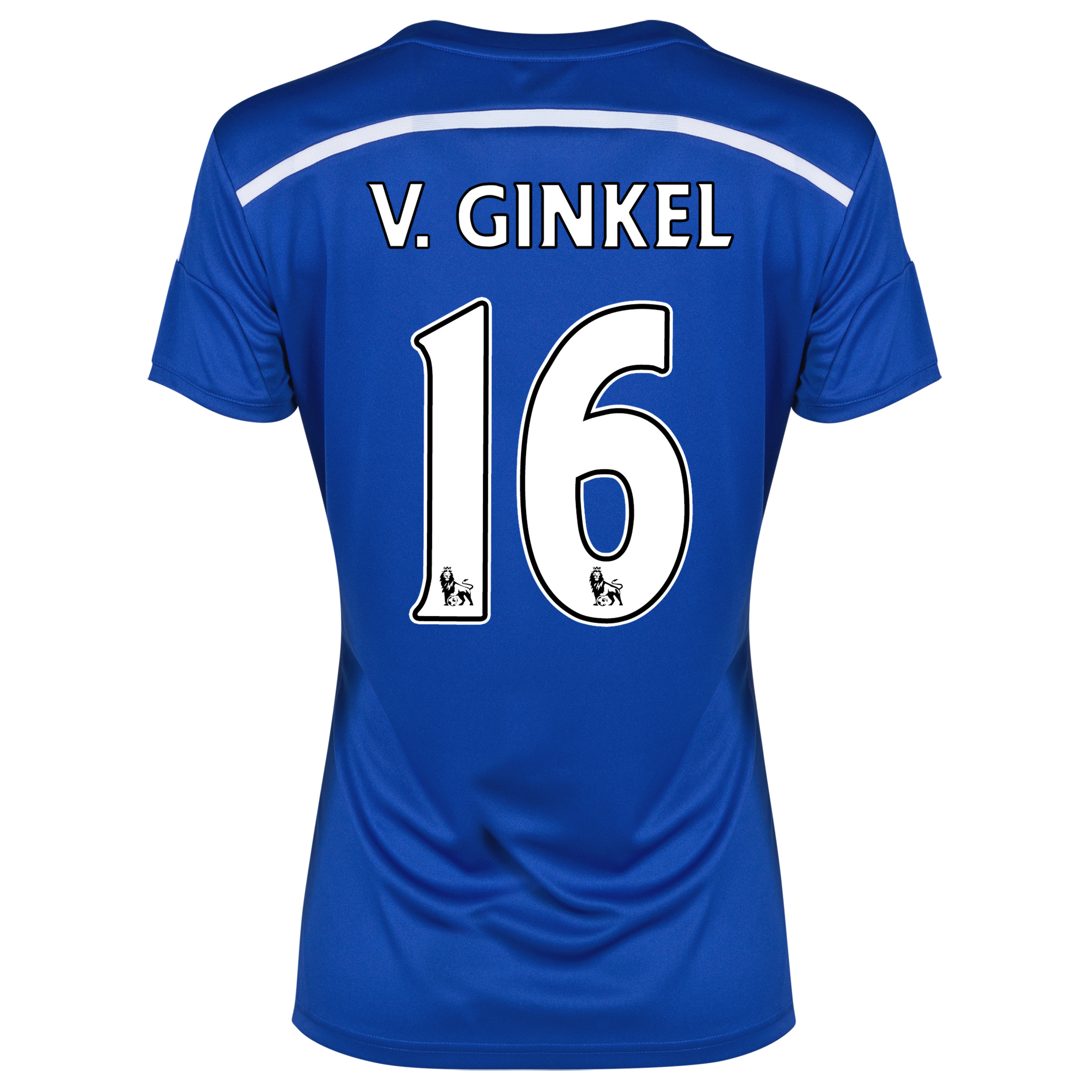 Chelsea Home Shirt 2014/15 - Womens Blue with v.Ginkel 16 printing