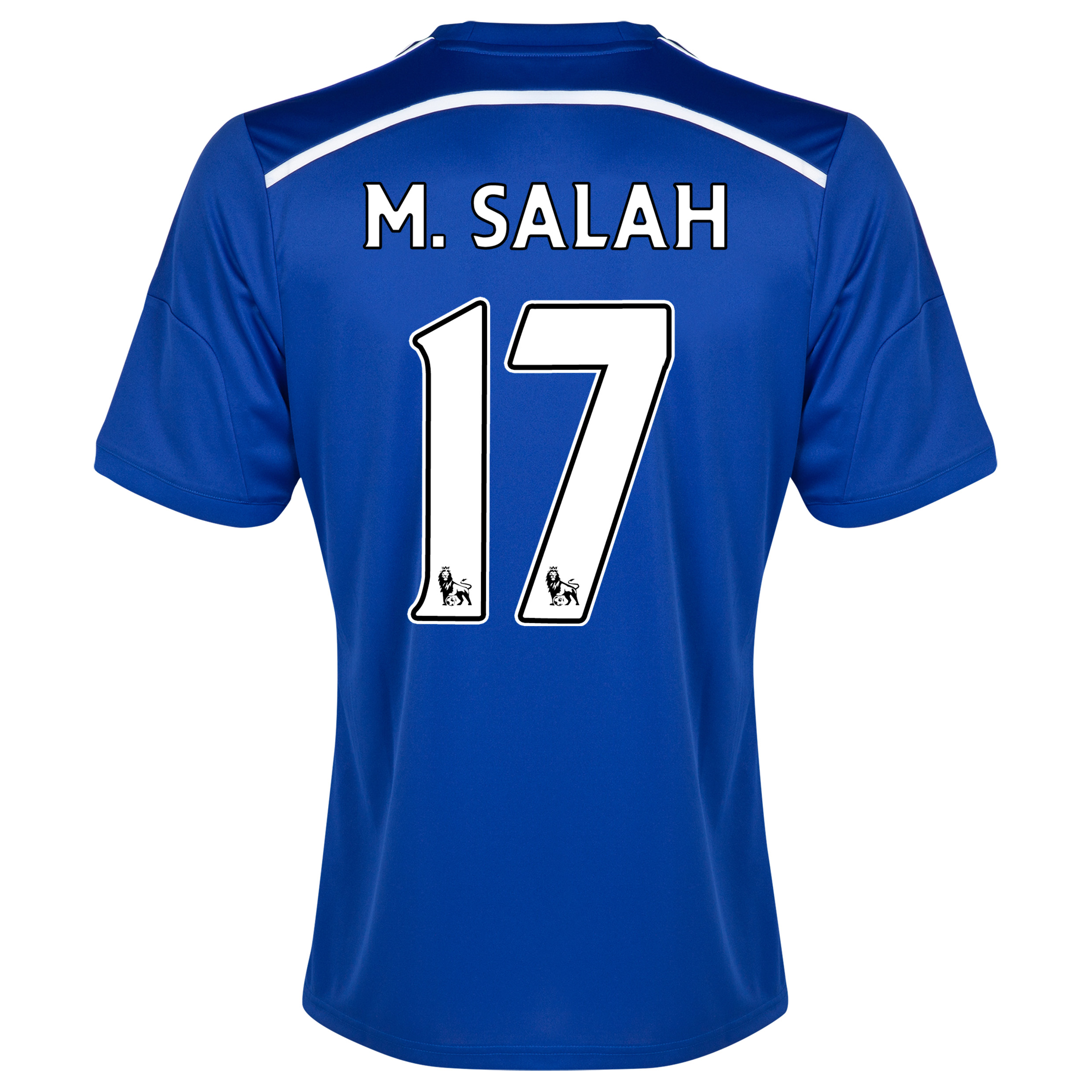 Chelsea Home Shirt 2014/15 - Outsize Blue with M. Salah 17 printing