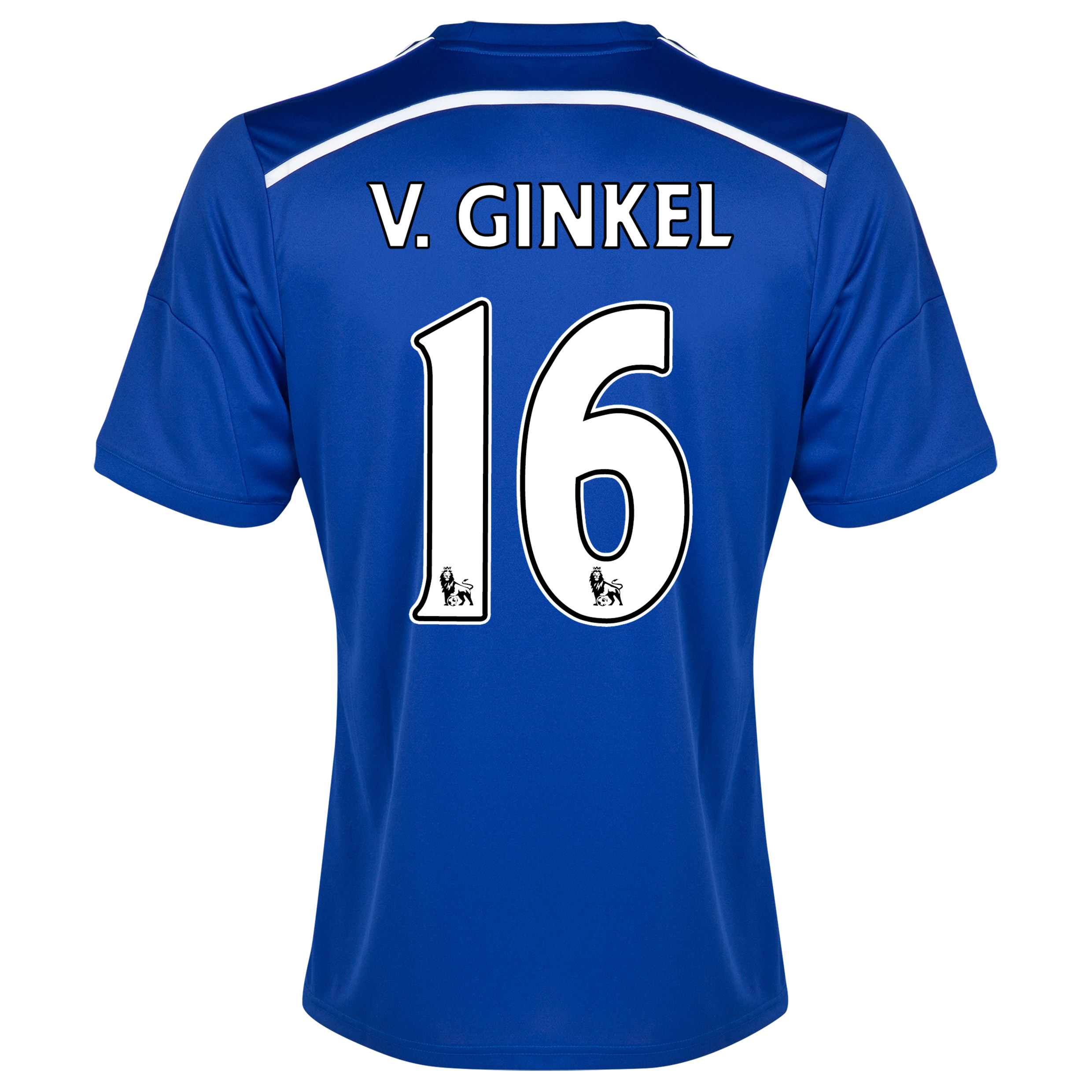 Chelsea Home Shirt 2014/15 - Outsize Blue with v.Ginkel 16 printing
