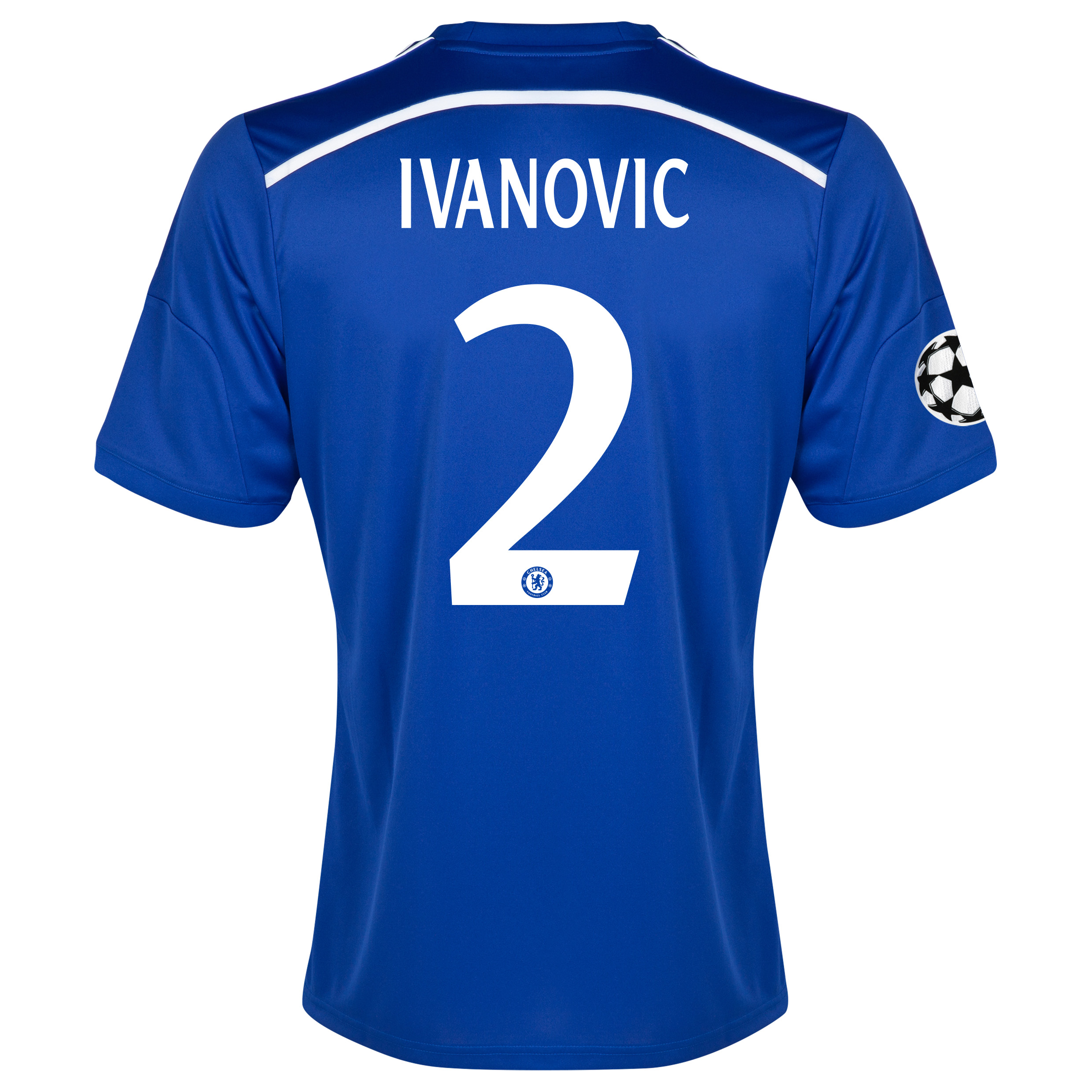 Chelsea UEFA Champions League Home Shirt 2014/15 Blue with Ivanovic 2 printing