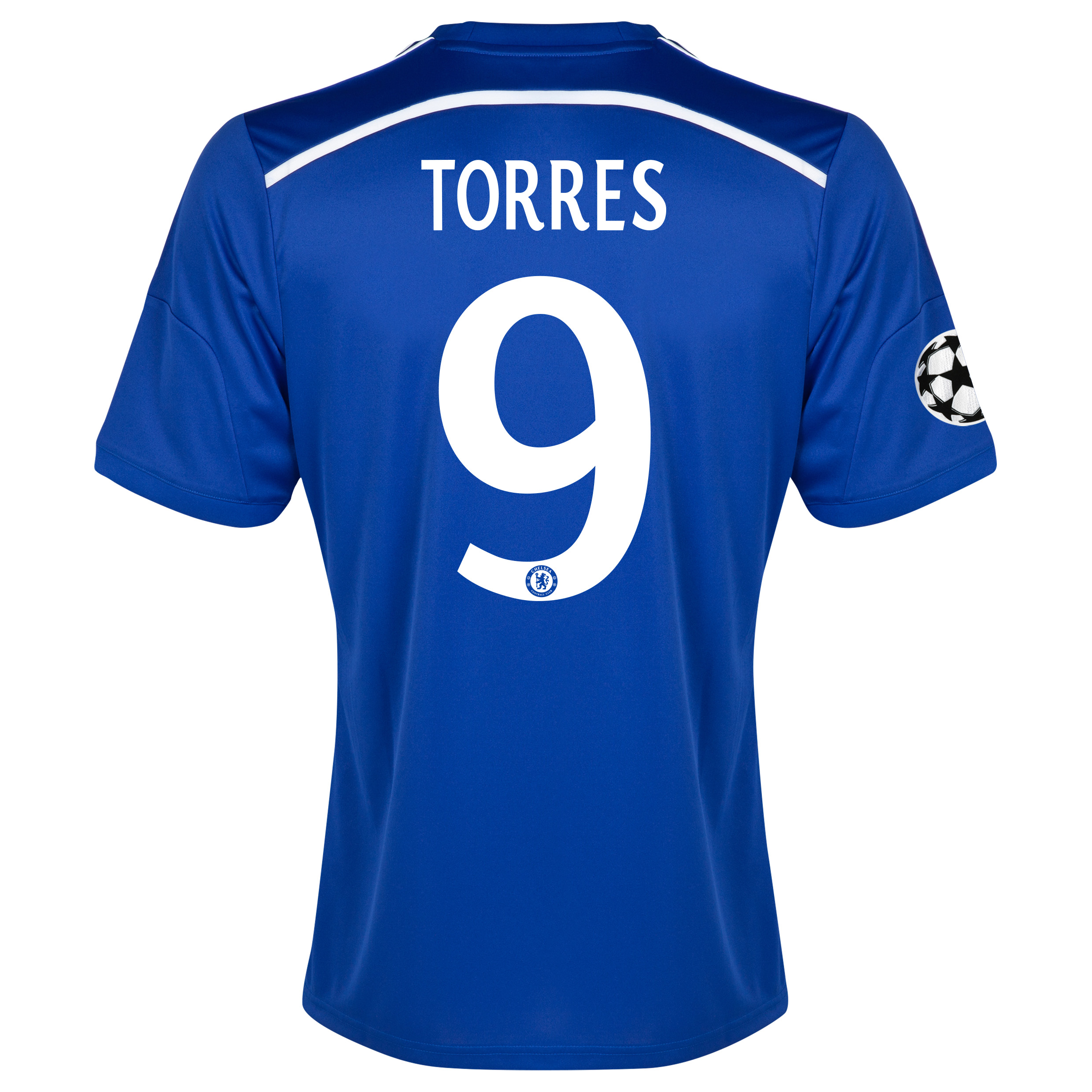 Chelsea UEFA Champions League Home Shirt 2014/15 Blue with Torres 9 printing