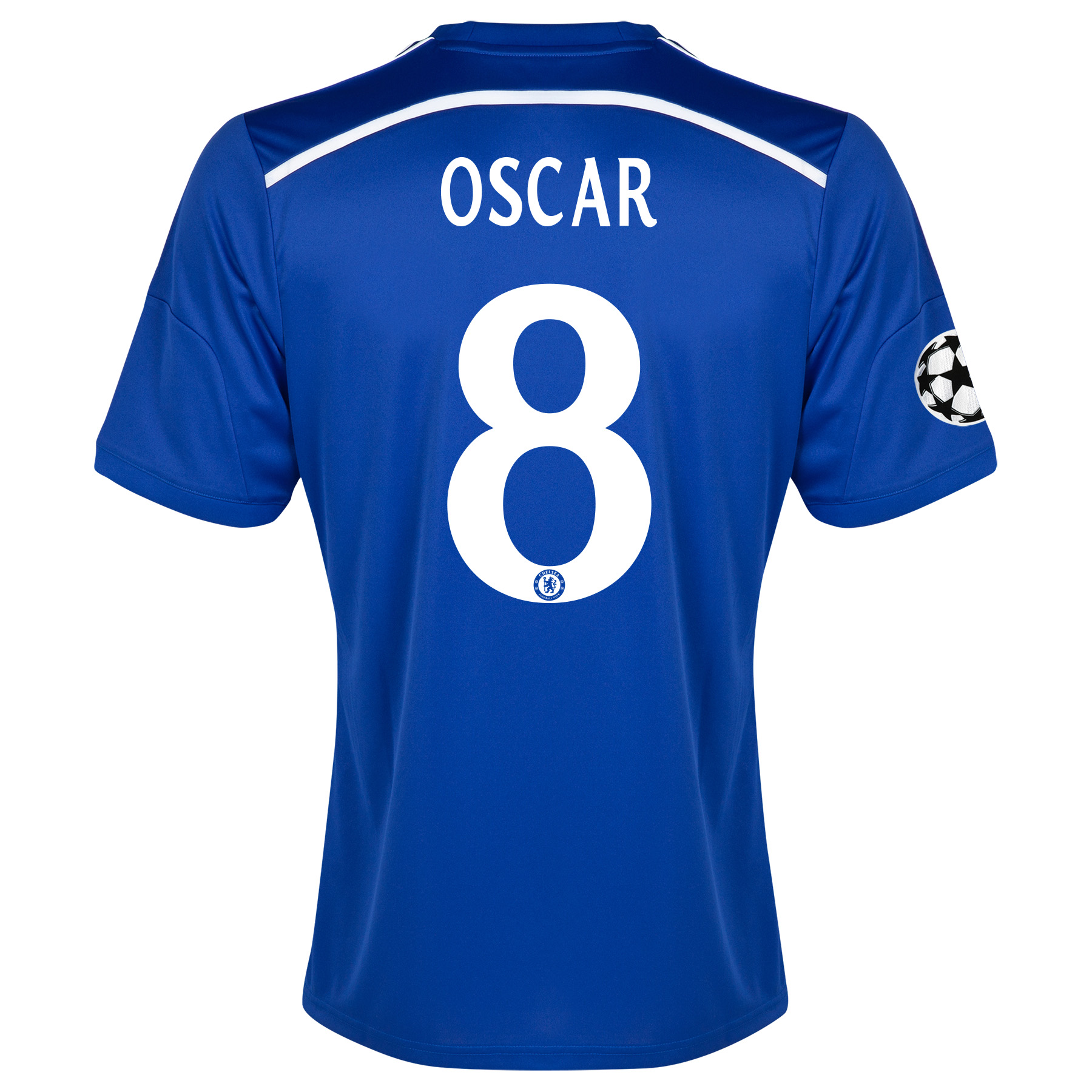 Chelsea UEFA Champions League Home Shirt 2014/15 Blue with Oscar 11 printing