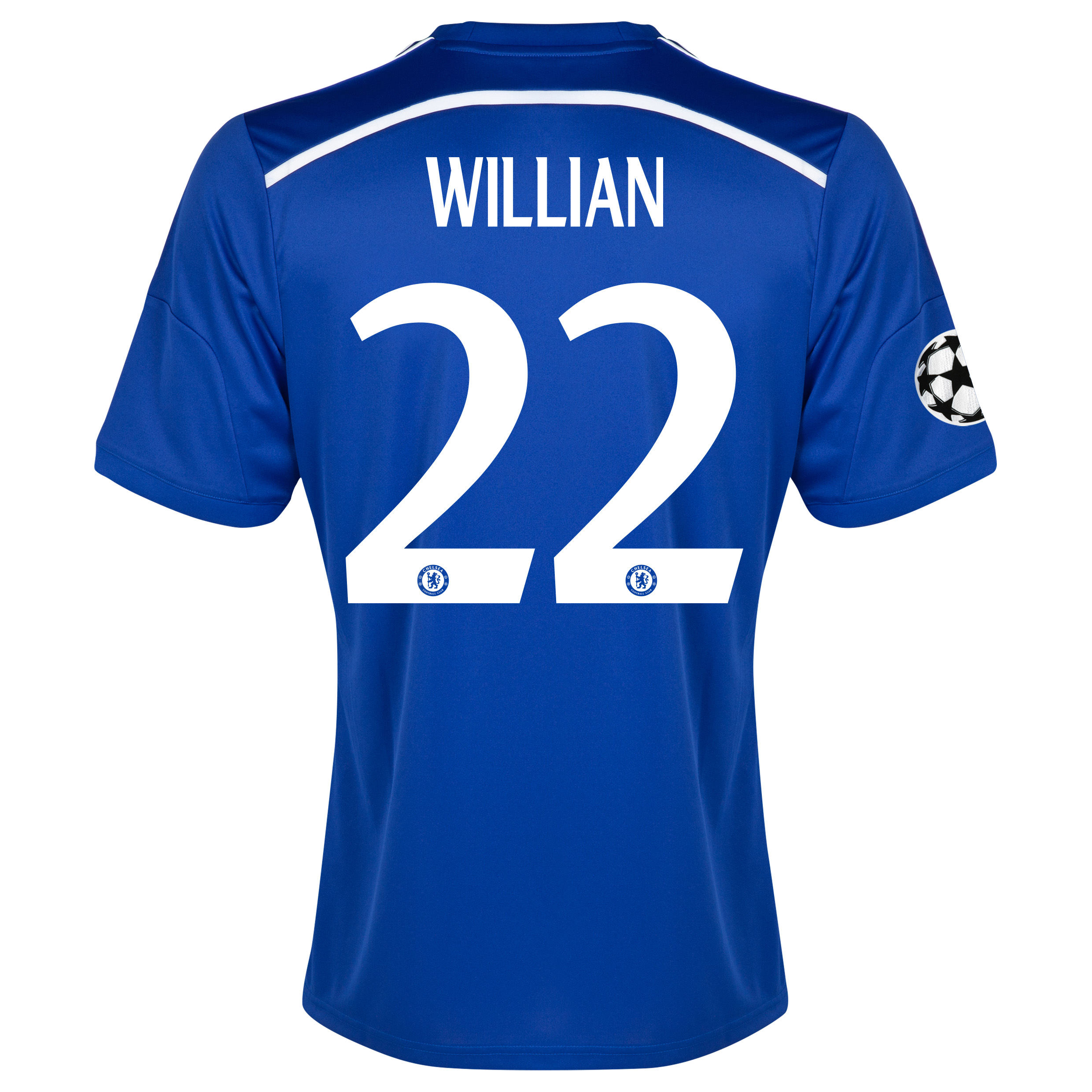 Chelsea UEFA Champions League Home Shirt 2014/15 Blue with Willian 22 printing
