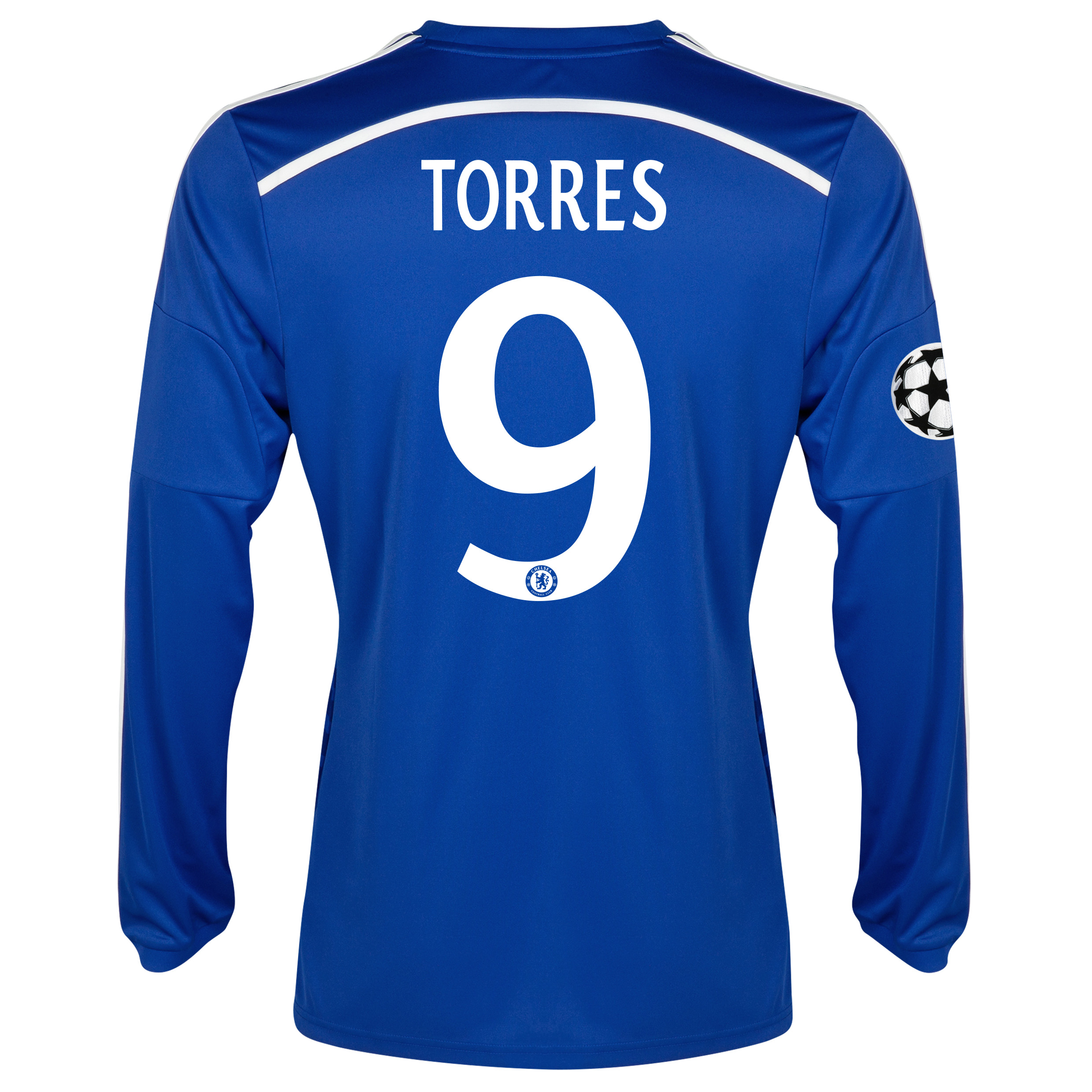 Chelsea UEFA Champions League Home Shirt 2014/15 - Long Sleeve Blue with Torres 9 printing