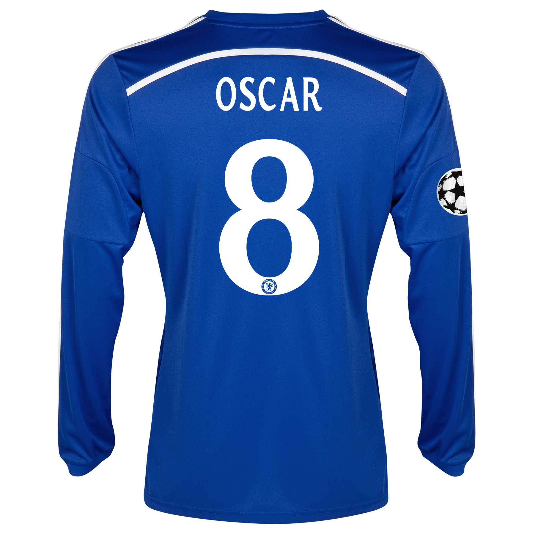 Chelsea UEFA Champions League Home Shirt 2014/15 - Long Sleeve Blue with Oscar 11 printing
