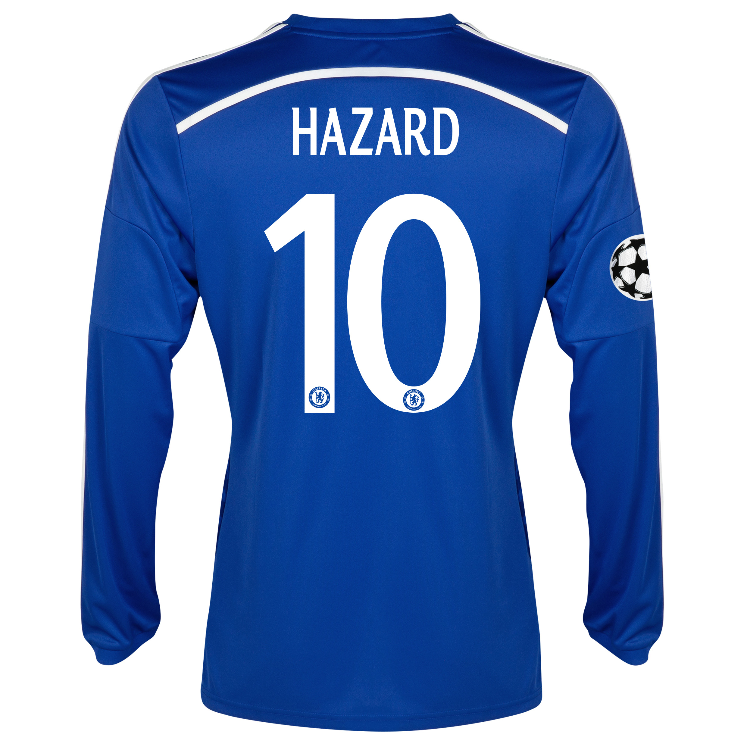 Chelsea UEFA Champions League Home Shirt 2014/15 - Long Sleeve Blue with Hazard 10 printing