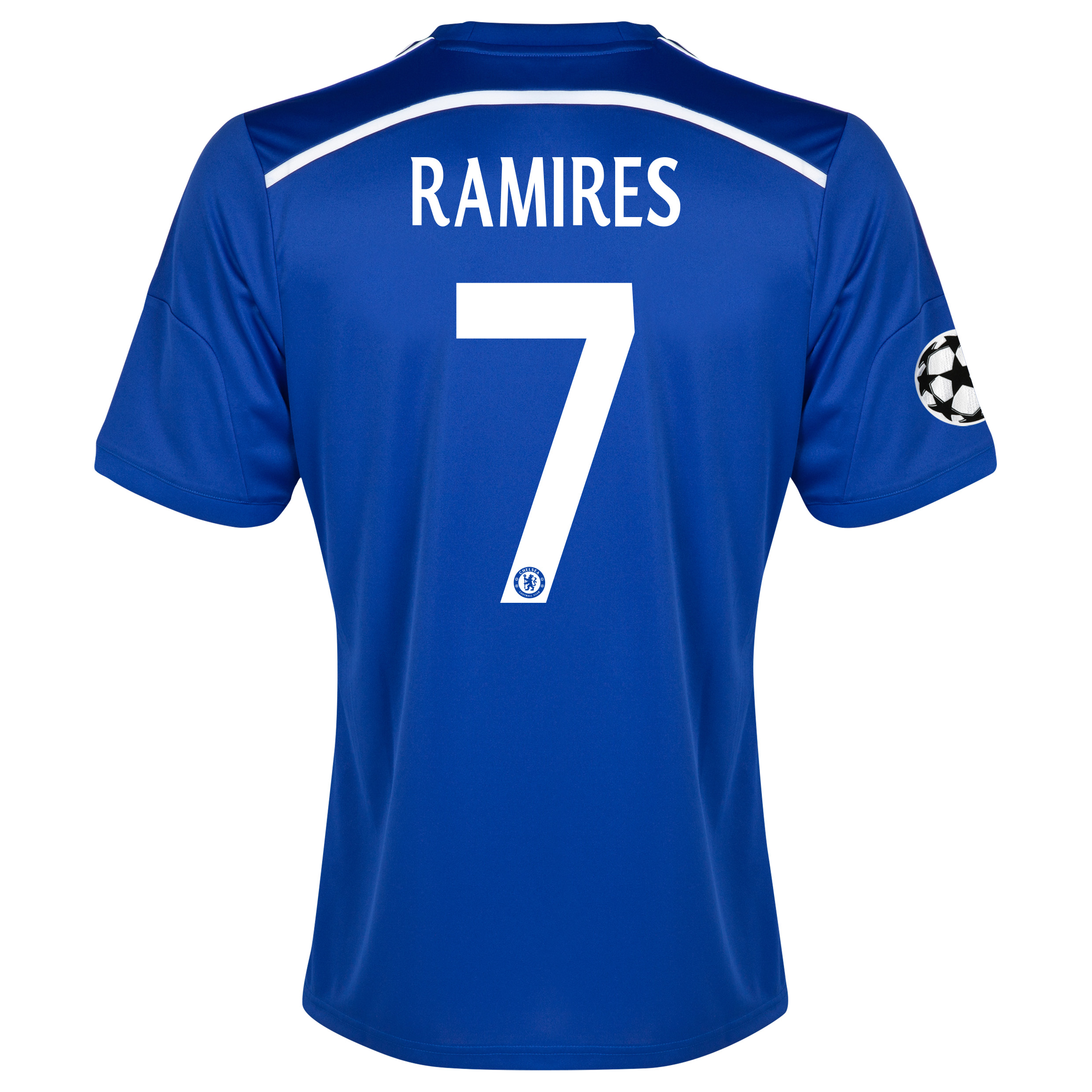 Chelsea UEFA Champions League Home Shirt 2014/15 - Kids Blue with Ramires 7 printing