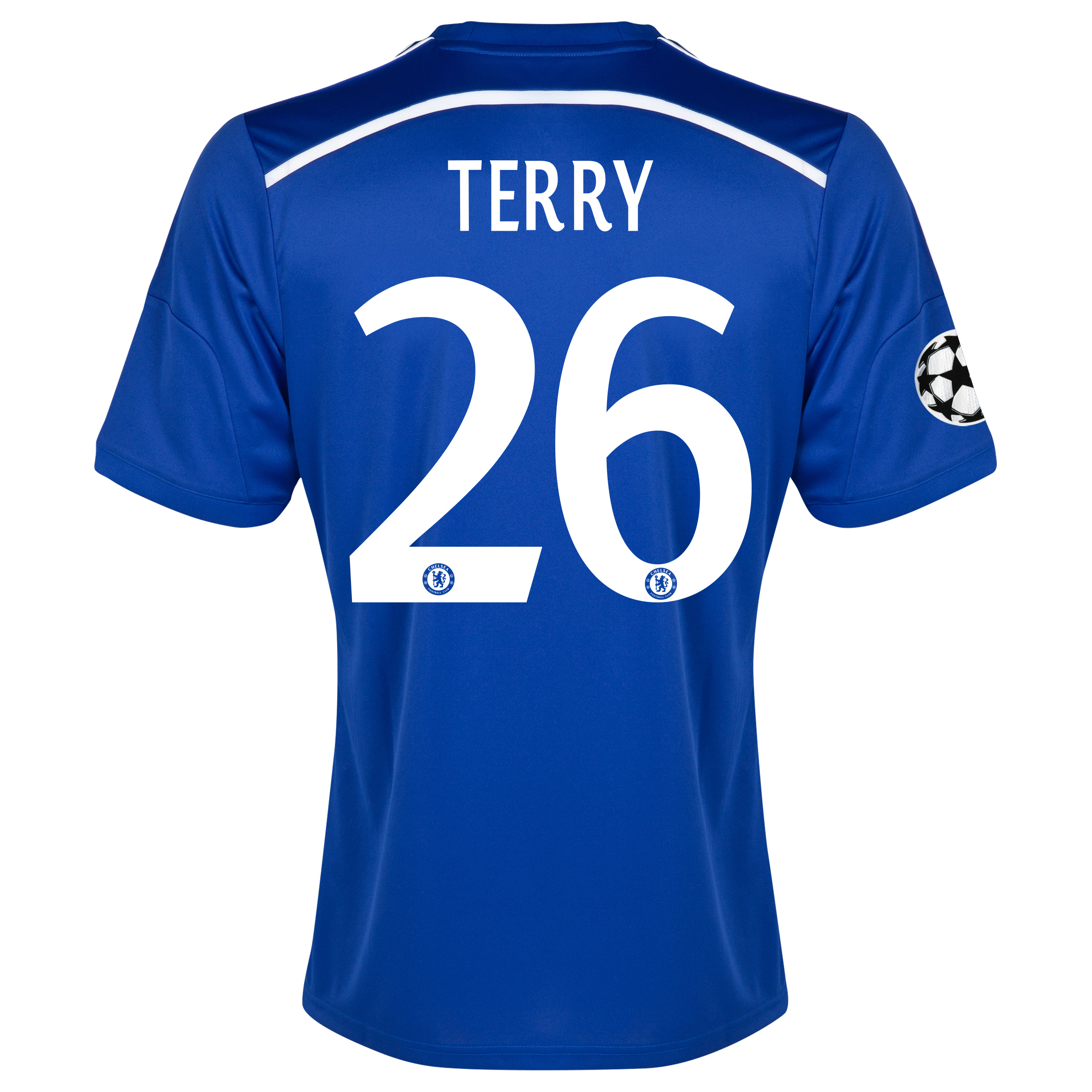 Chelsea UEFA Champions League Home Shirt 2014/15 - Kids Blue with Terry 26 printing
