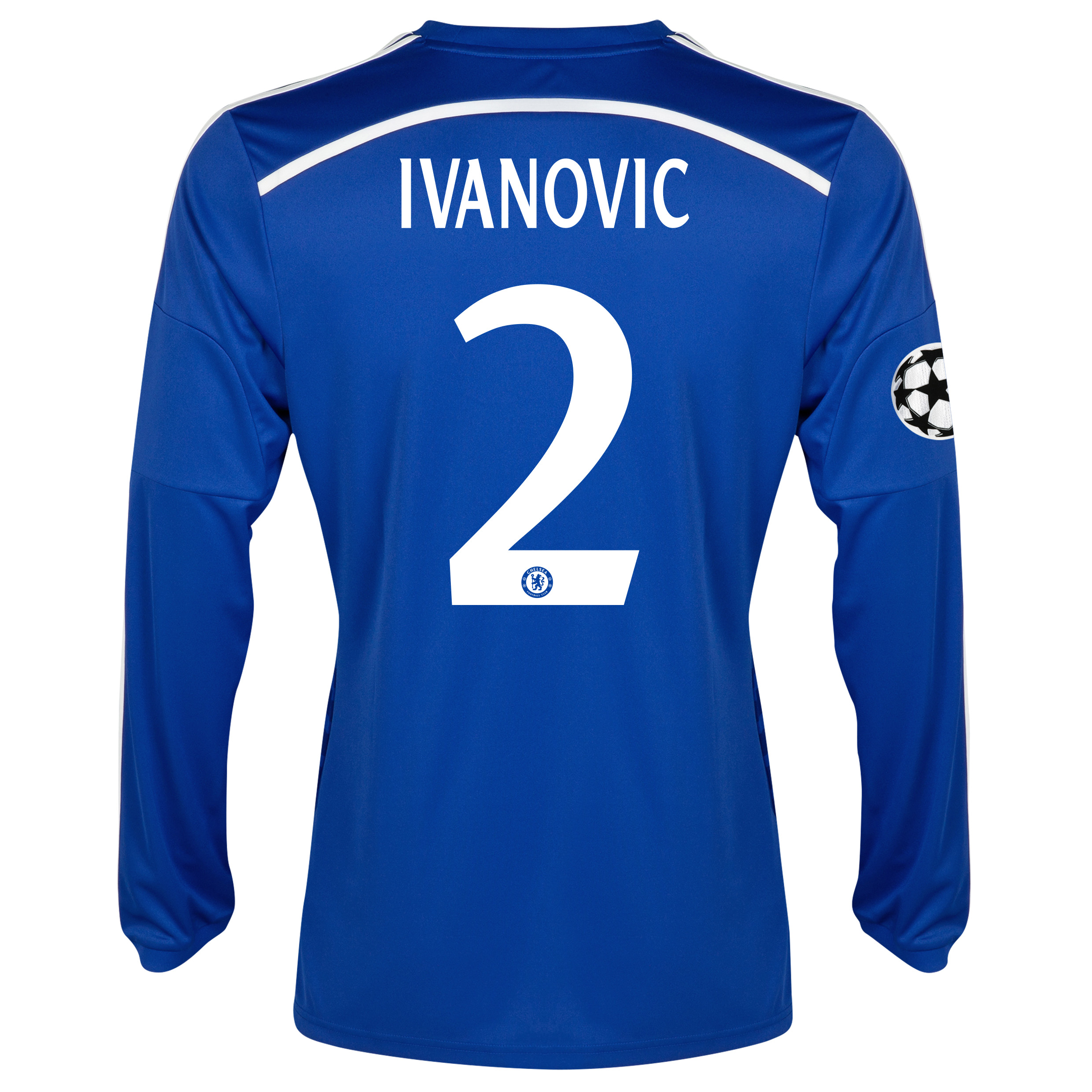 Chelsea UEFA Champions League Home Shirt 2014/15 - Long Sleeve - Kids Blue with Ivanovic 2 printing