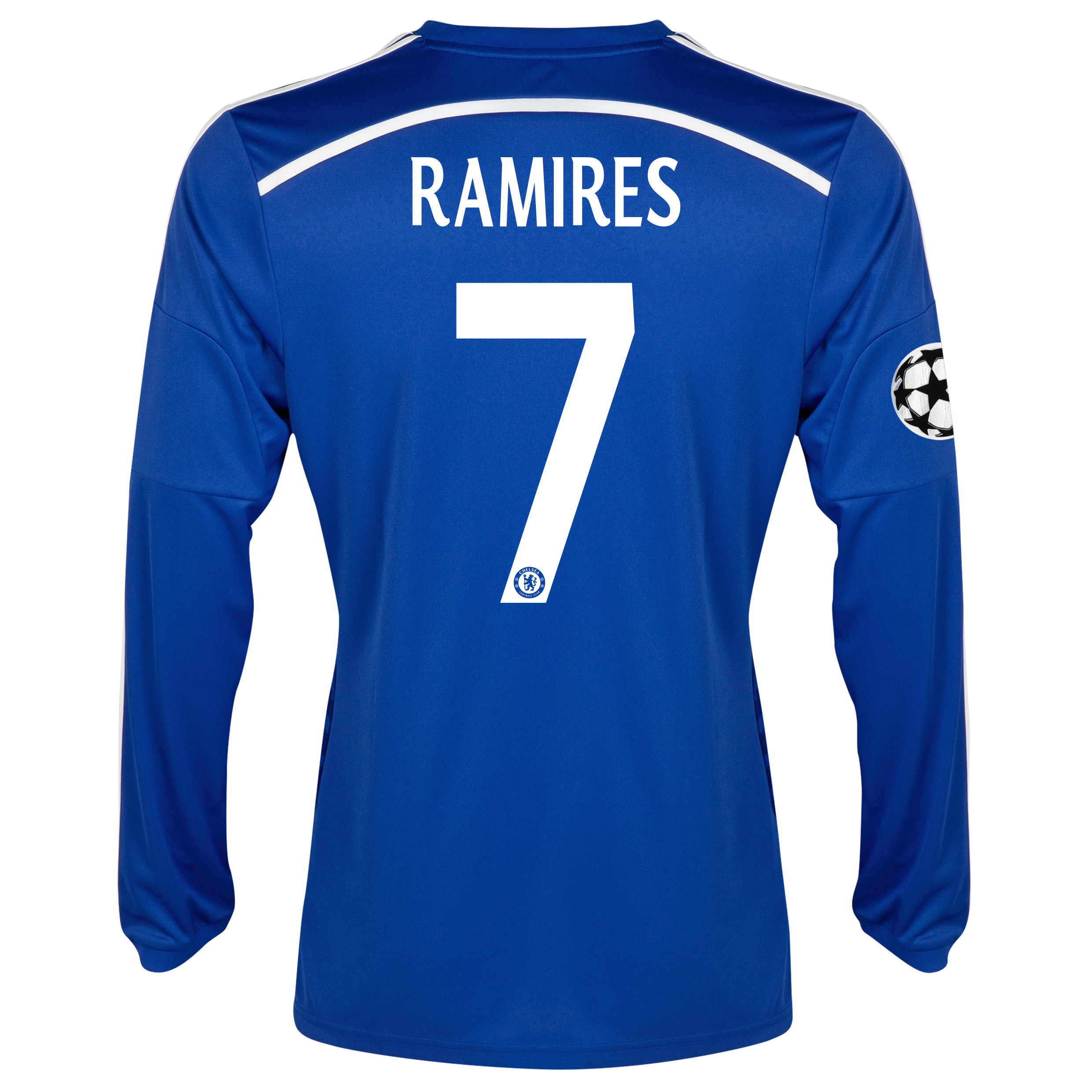 Chelsea UEFA Champions League Home Shirt 2014/15 - Long Sleeve - Kids Blue with Ramires 7 printing