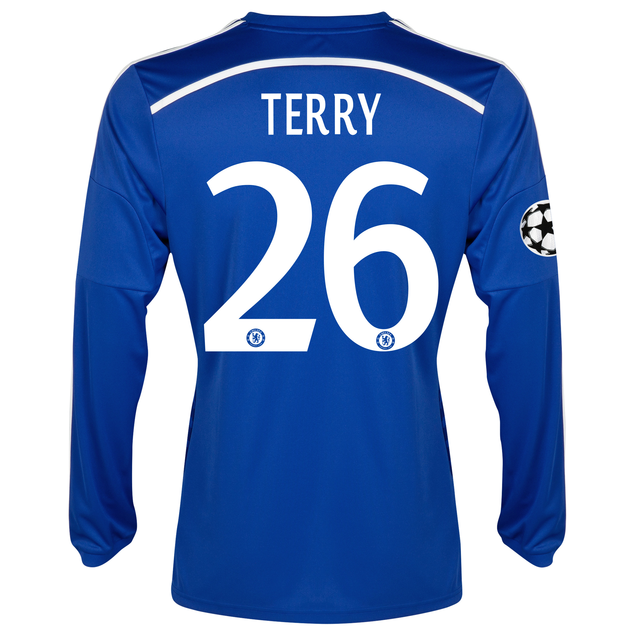 Chelsea UEFA Champions League Home Shirt 2014/15 - Long Sleeve - Kids Blue with Terry 26 printing