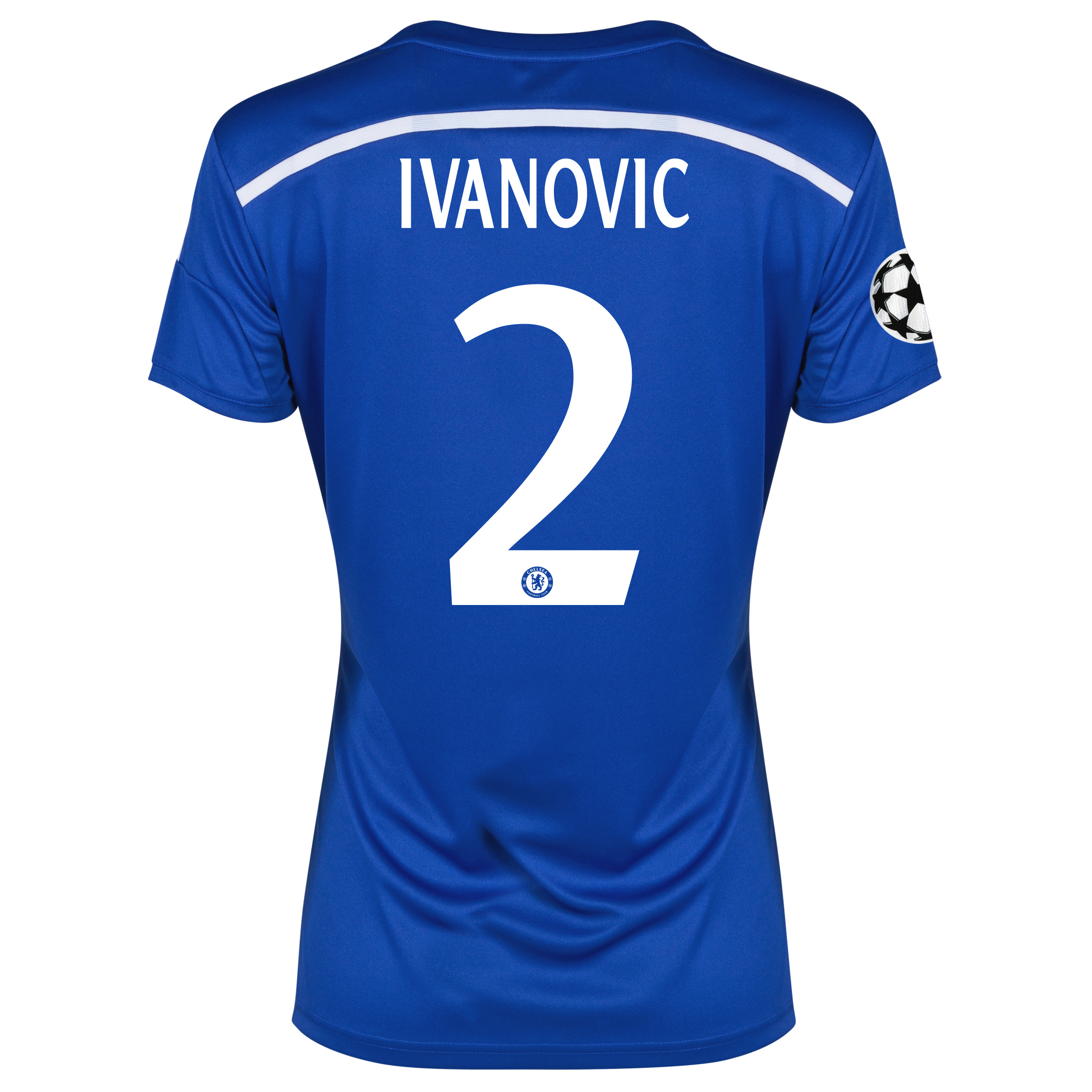 Chelsea UEFA Champions League Home Shirt 2014/15 - Womens Blue with Ivanovic 2 printing