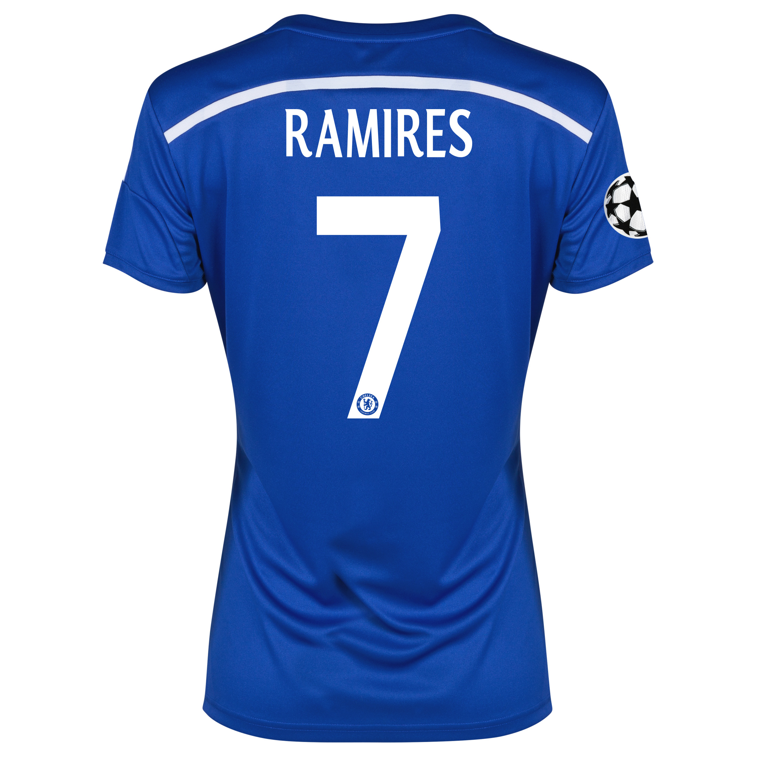 Chelsea UEFA Champions League Home Shirt 2014/15 - Womens Blue with Ramires 7 printing