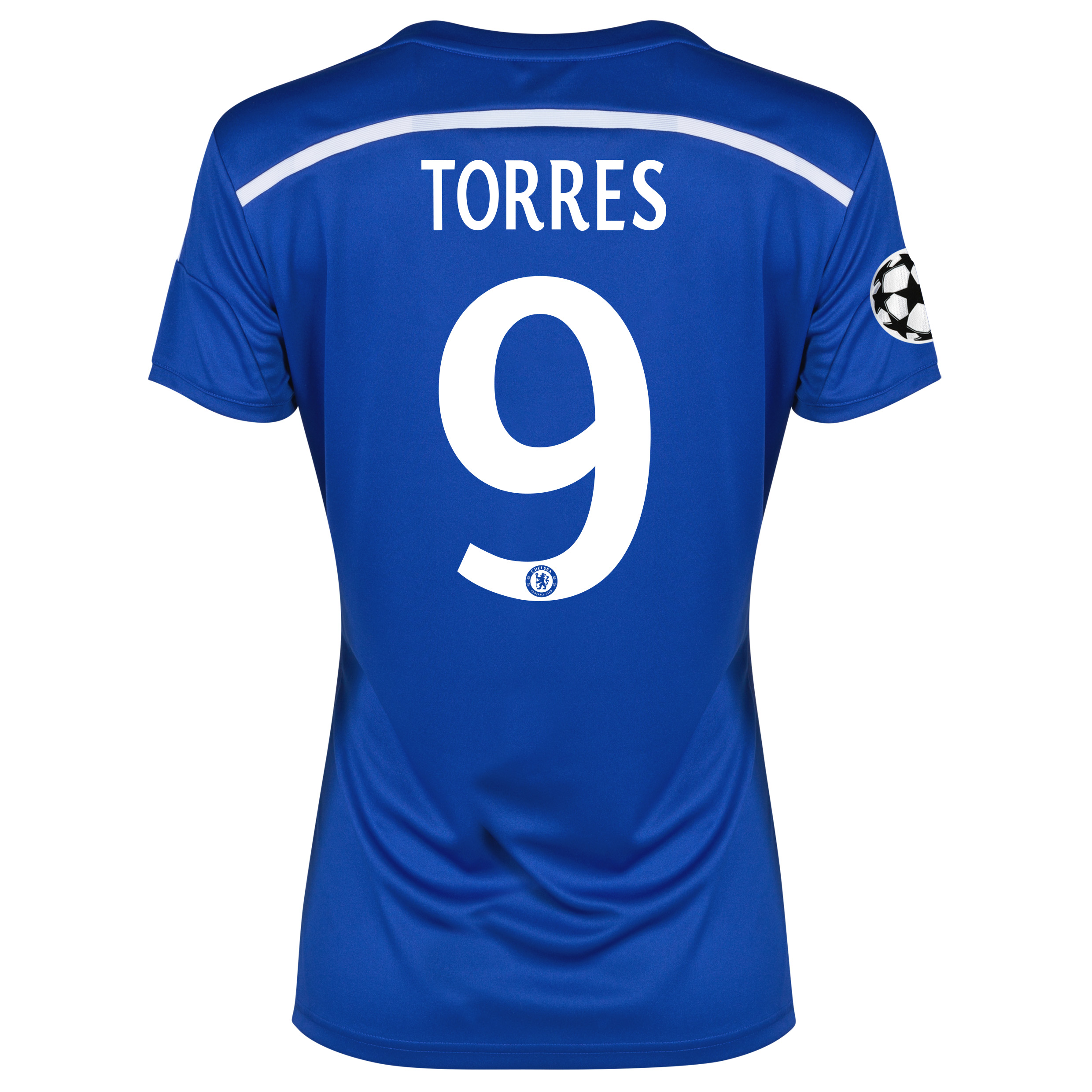 Chelsea UEFA Champions League Home Shirt 2014/15 - Womens Blue with Torres 9 printing