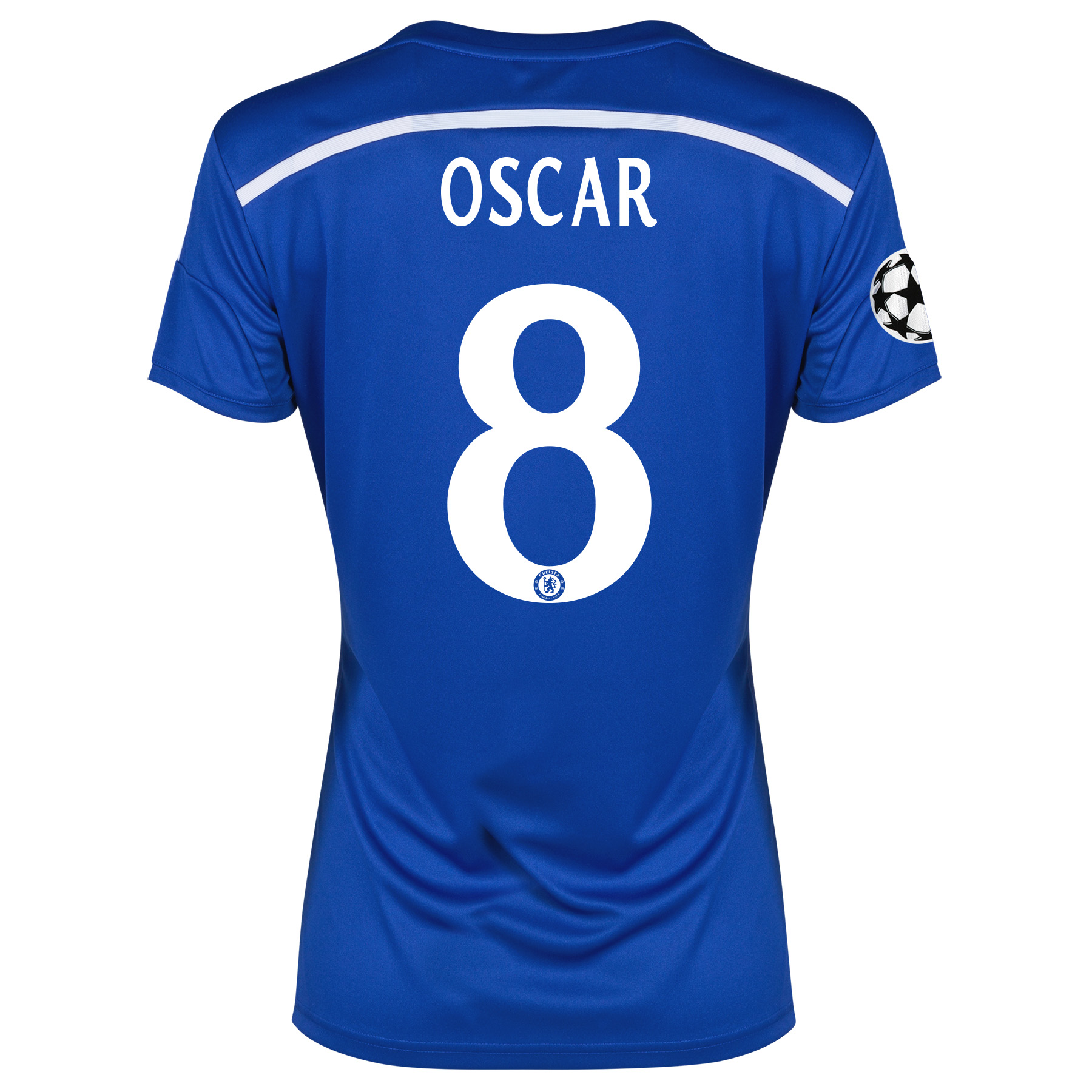 Chelsea UEFA Champions League Home Shirt 2014/15 - Womens Blue with Oscar 11 printing