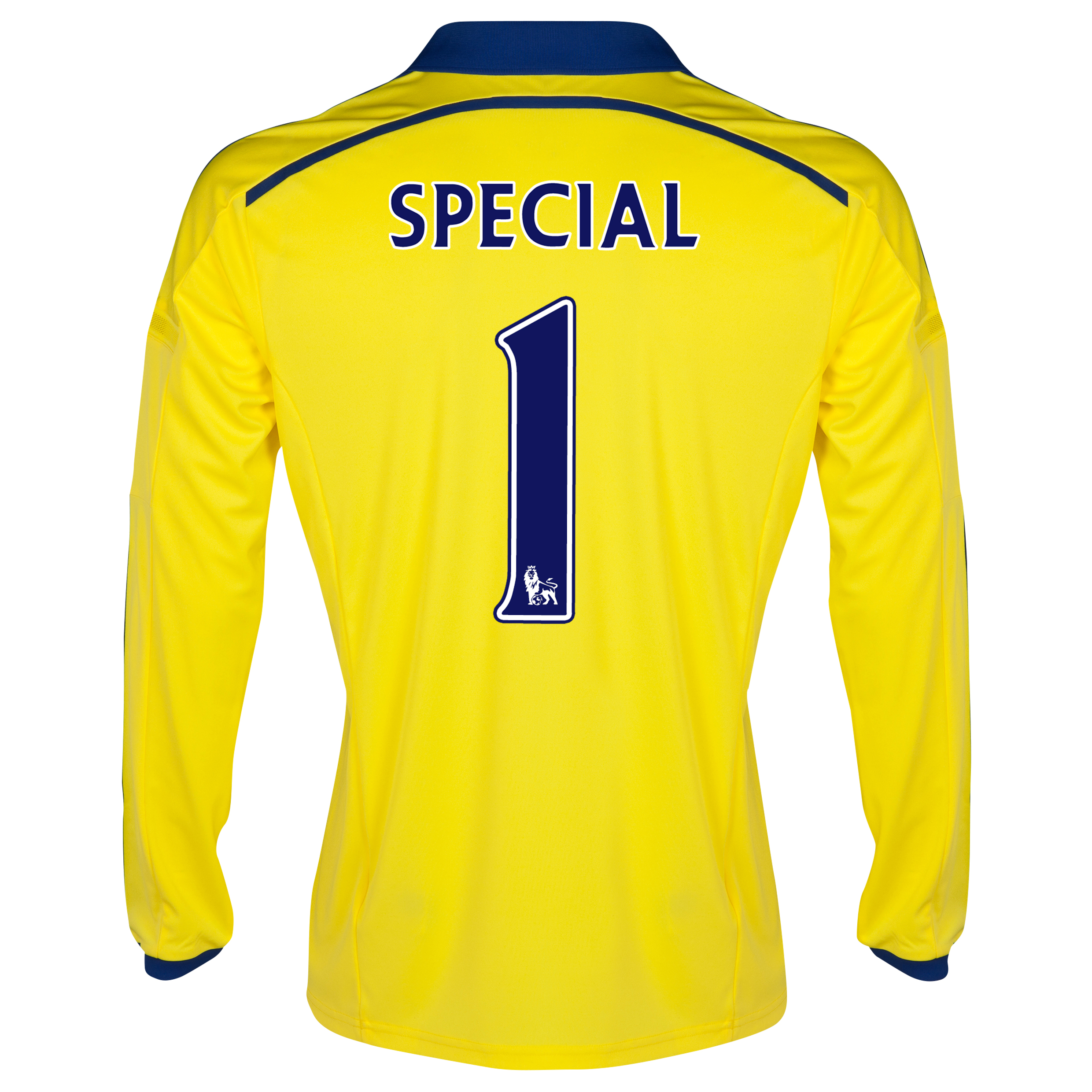 Chelsea Away Shirt 2014/15 - Long Sleeve - Kids Yellow with Special 1 printing