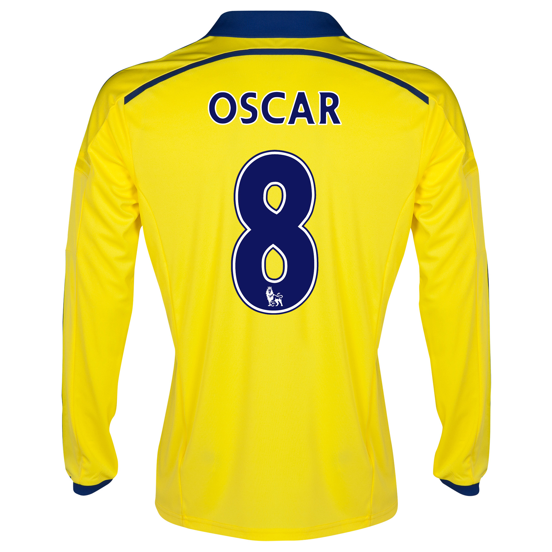 Chelsea Away Shirt 2014/15 - Long Sleeve - Kids Yellow with Oscar 11 printing